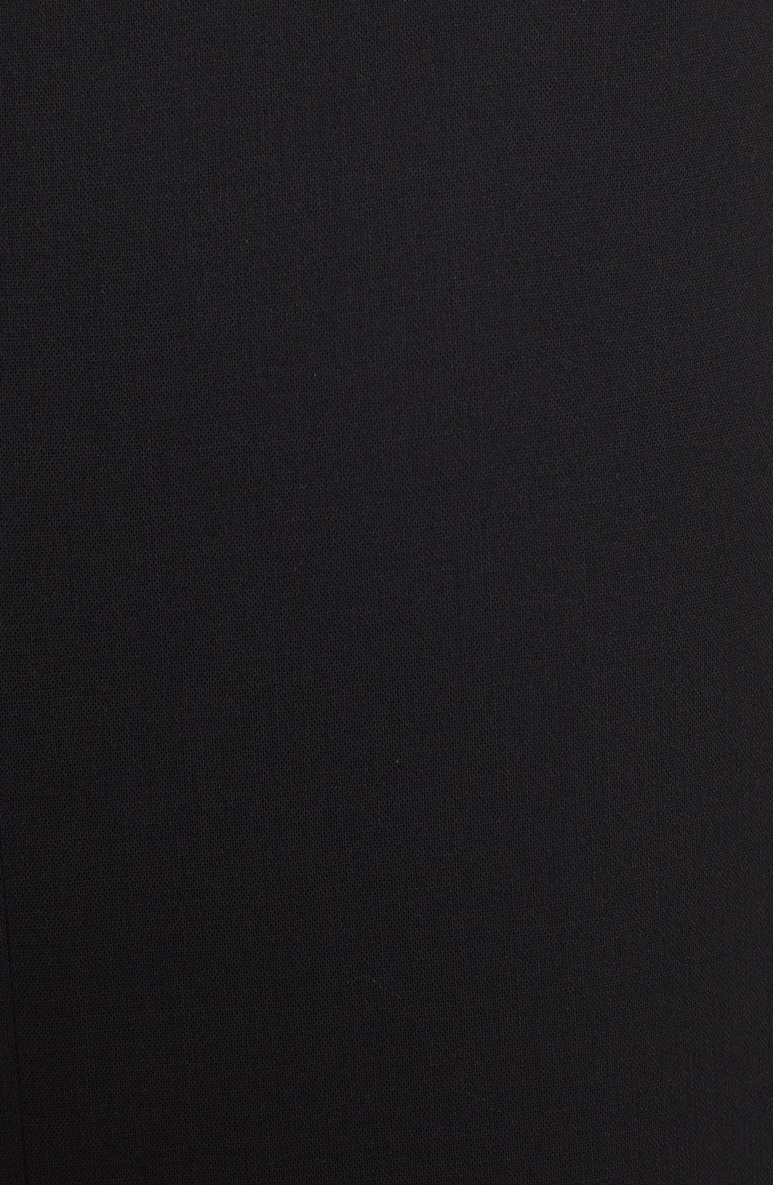 Double Face Pencil Skirt,                             Alternate thumbnail 5, color,                             BLACK