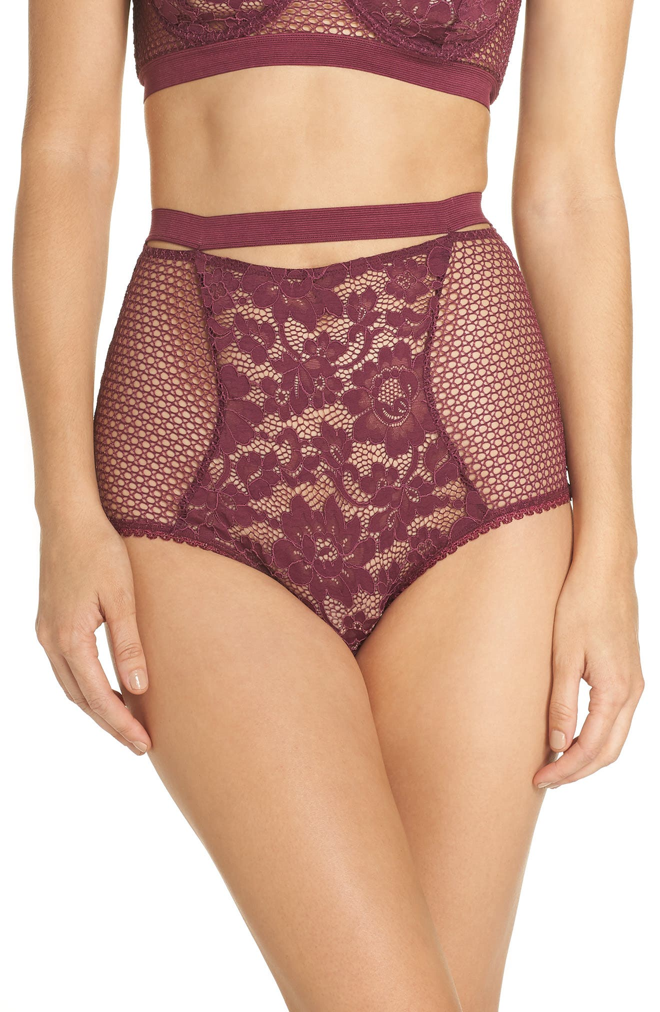 Petunia Lace Briefs,                         Main,                         color, MAGENTA
