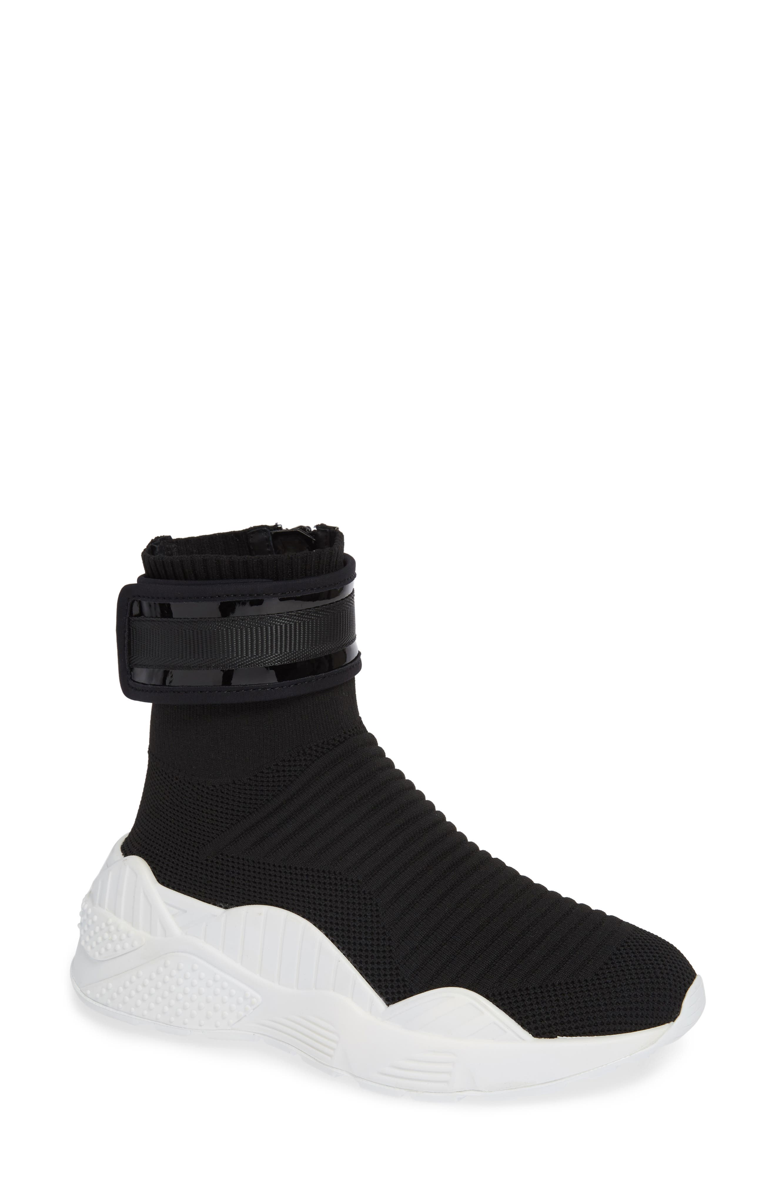 Interweb Cuff Knit Sneaker,                             Main thumbnail 1, color,                             014