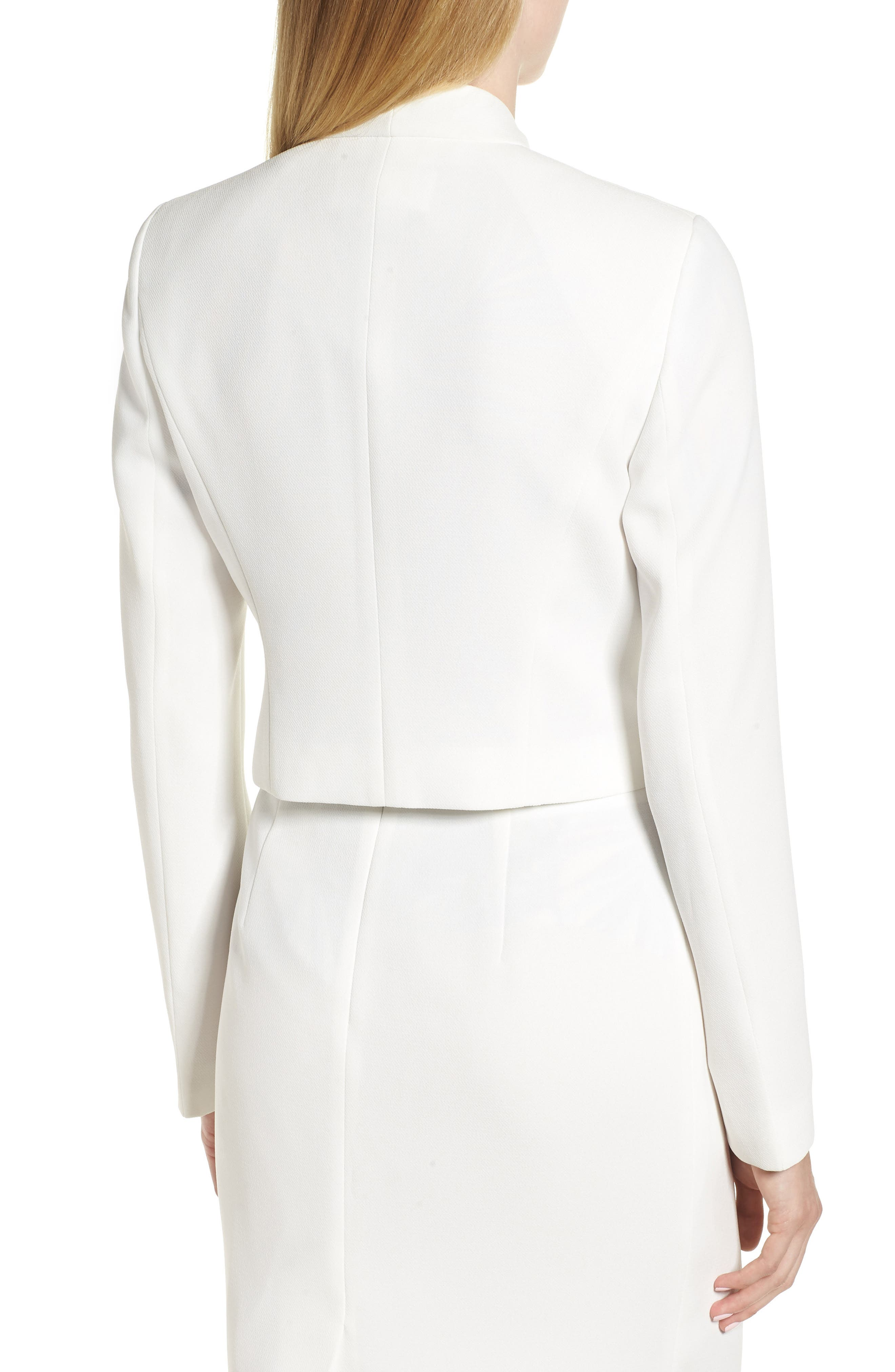 Jasika Crop Suit Jacket,                             Alternate thumbnail 2, color,                             VANILLA LIGHT