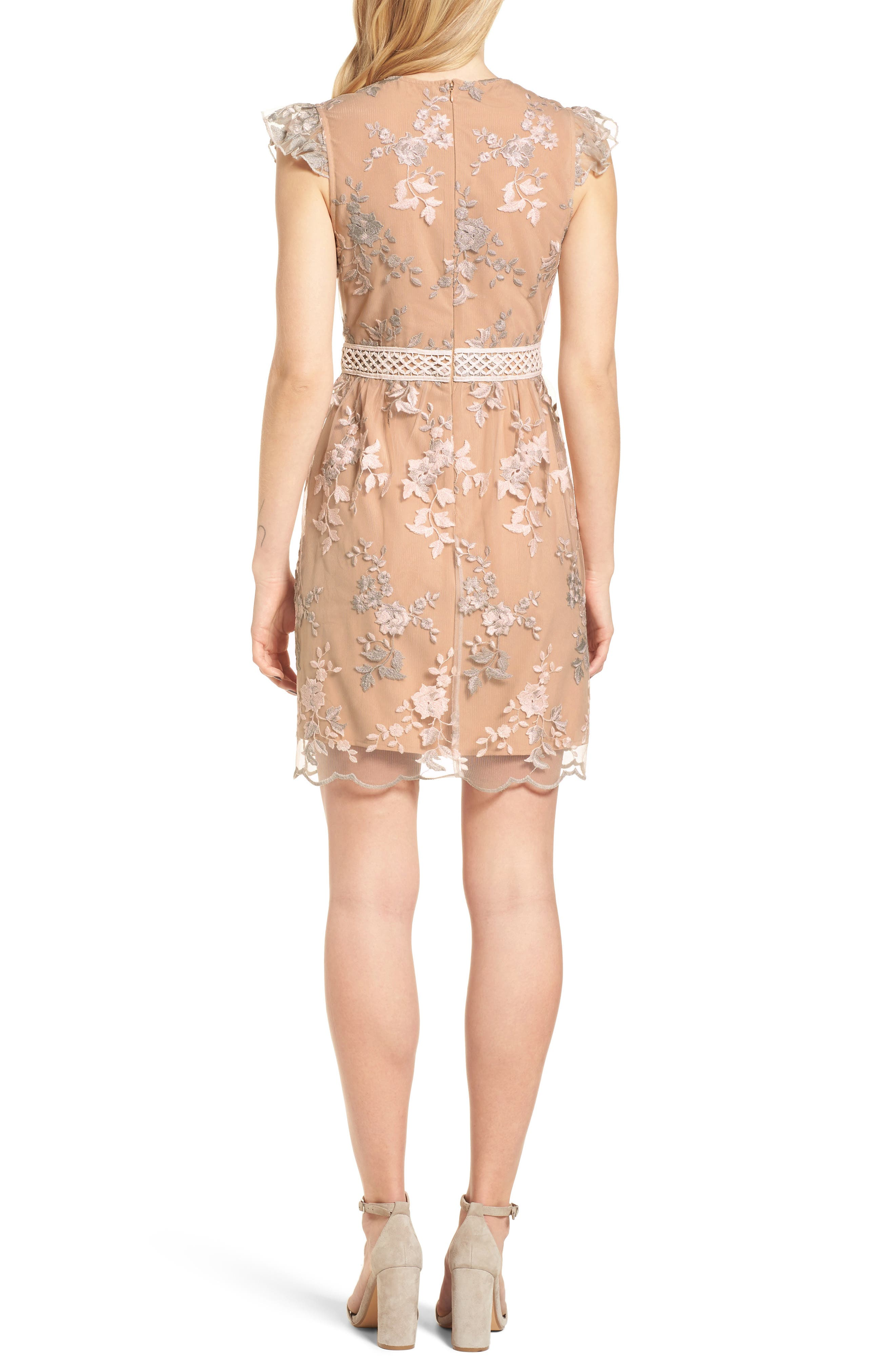 Oakfield Embroidered Minidress,                             Alternate thumbnail 2, color,
