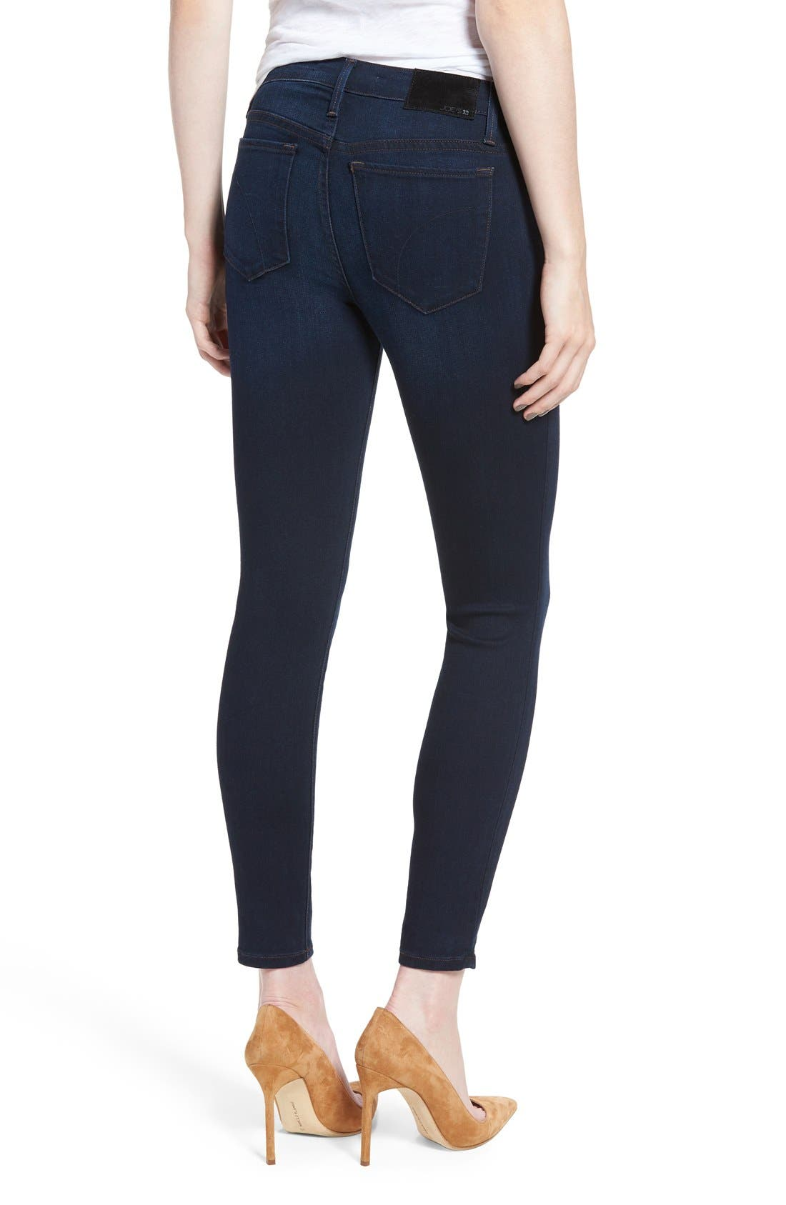 'Icon' Ankle Skinny Jeans,                             Alternate thumbnail 4, color,                             SELMA
