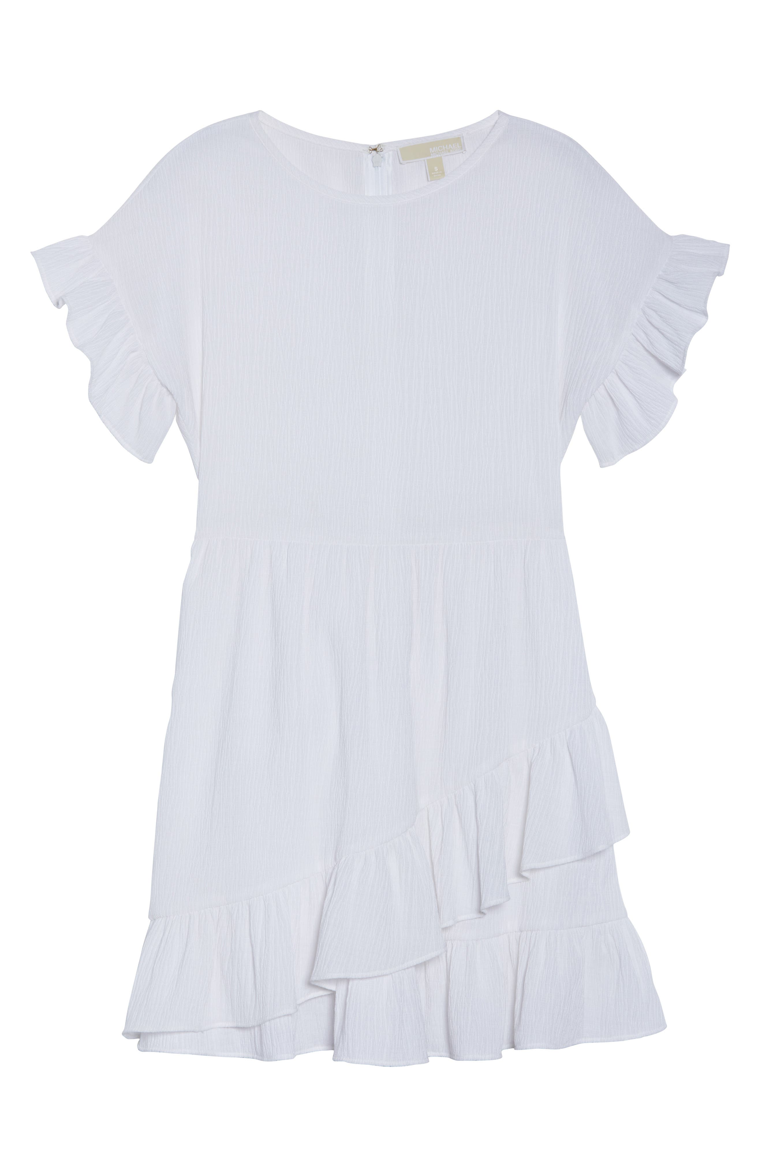 Ruffle Dress,                             Alternate thumbnail 7, color,                             100