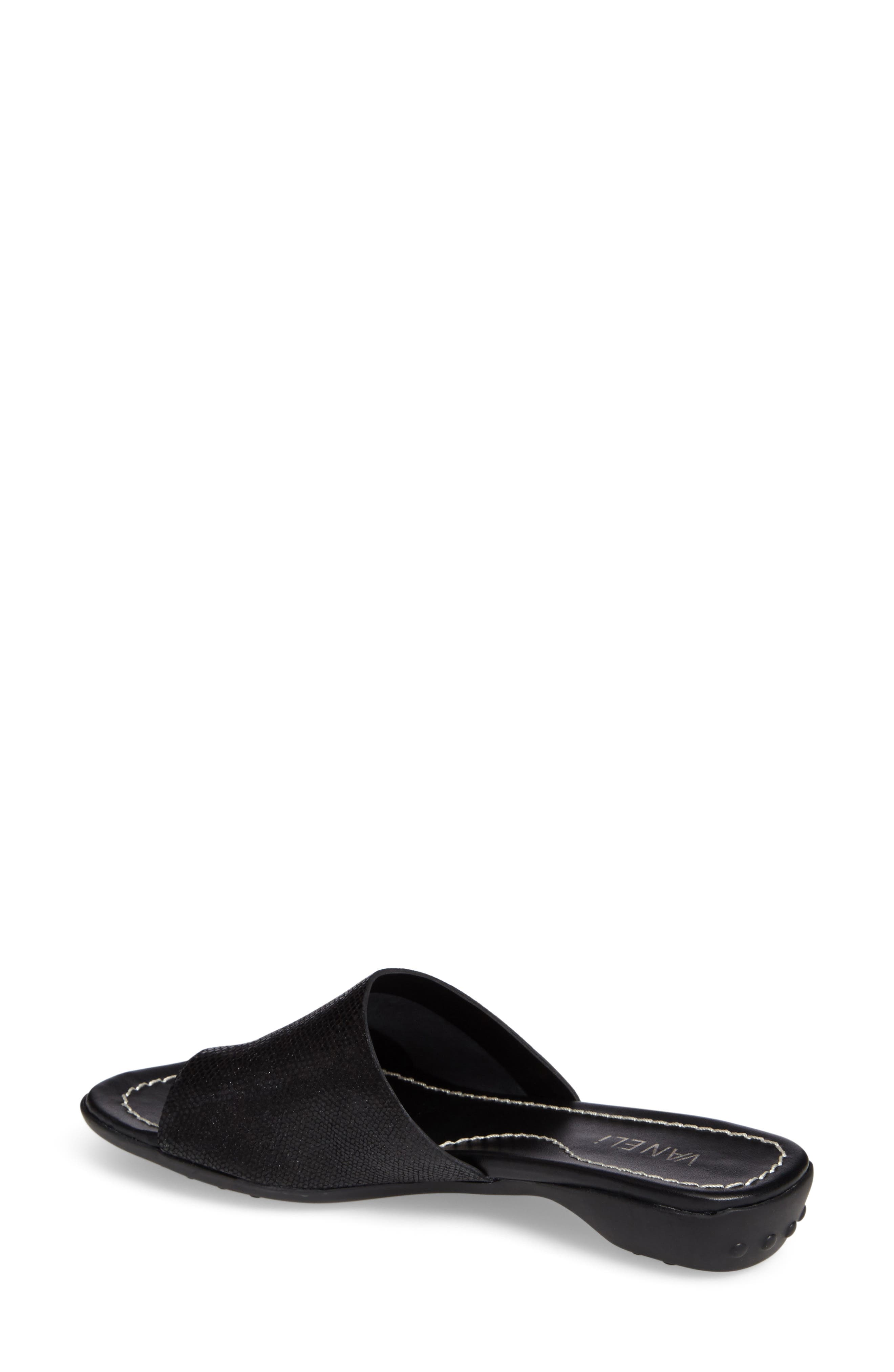 'Tallis' Snake Embossed Leather Slide Sandal,                             Alternate thumbnail 9, color,