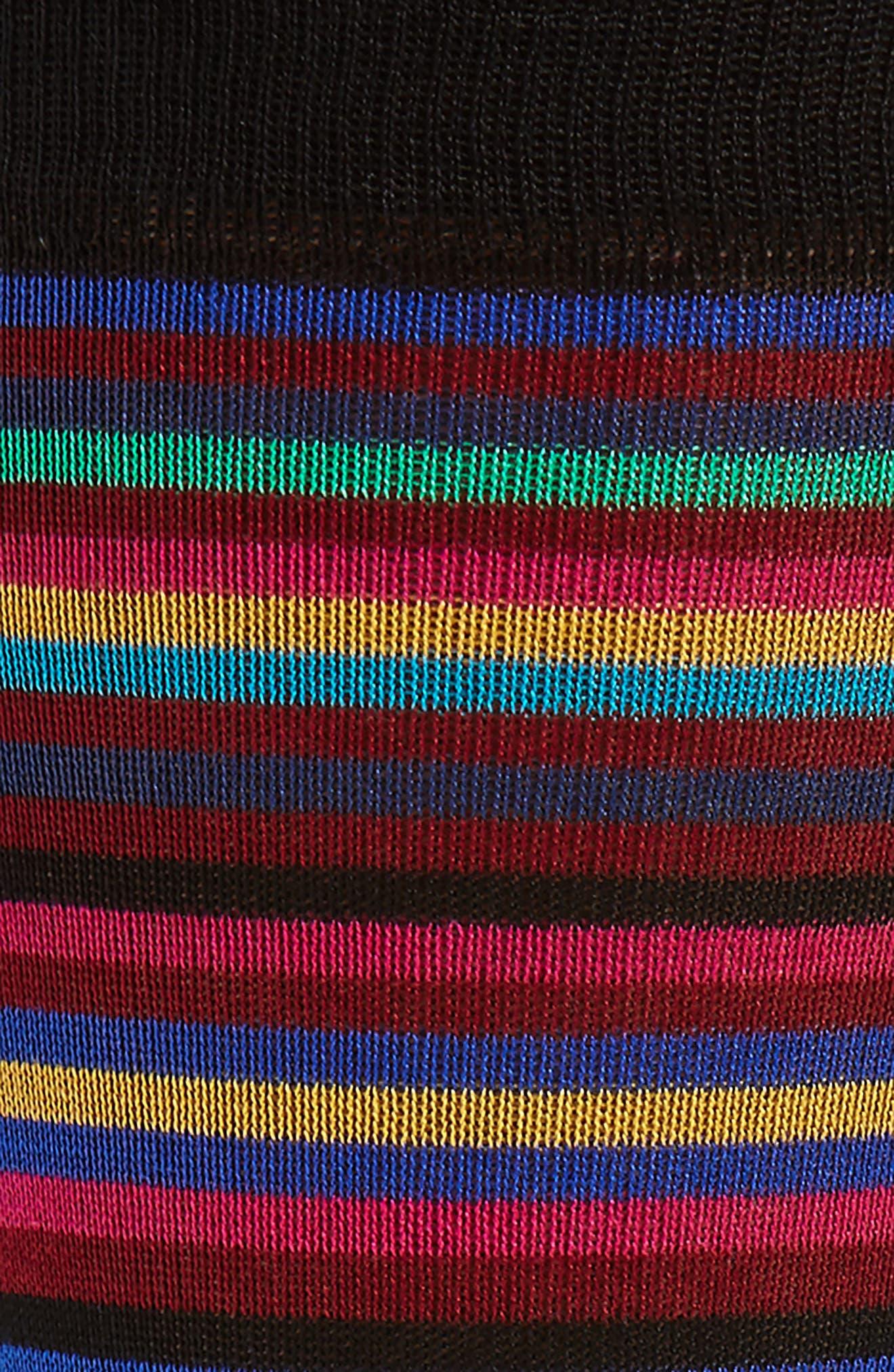Multi Stripe Crew Socks,                             Alternate thumbnail 5, color,