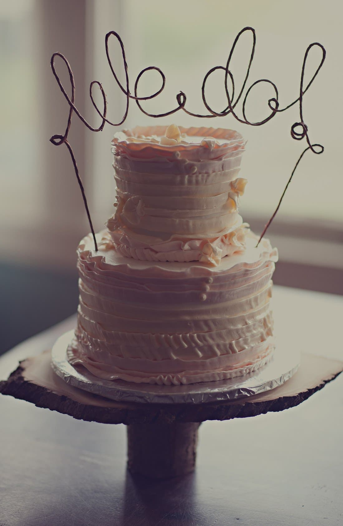 'We Do' Rustic Cake Topper, Main, color, 200