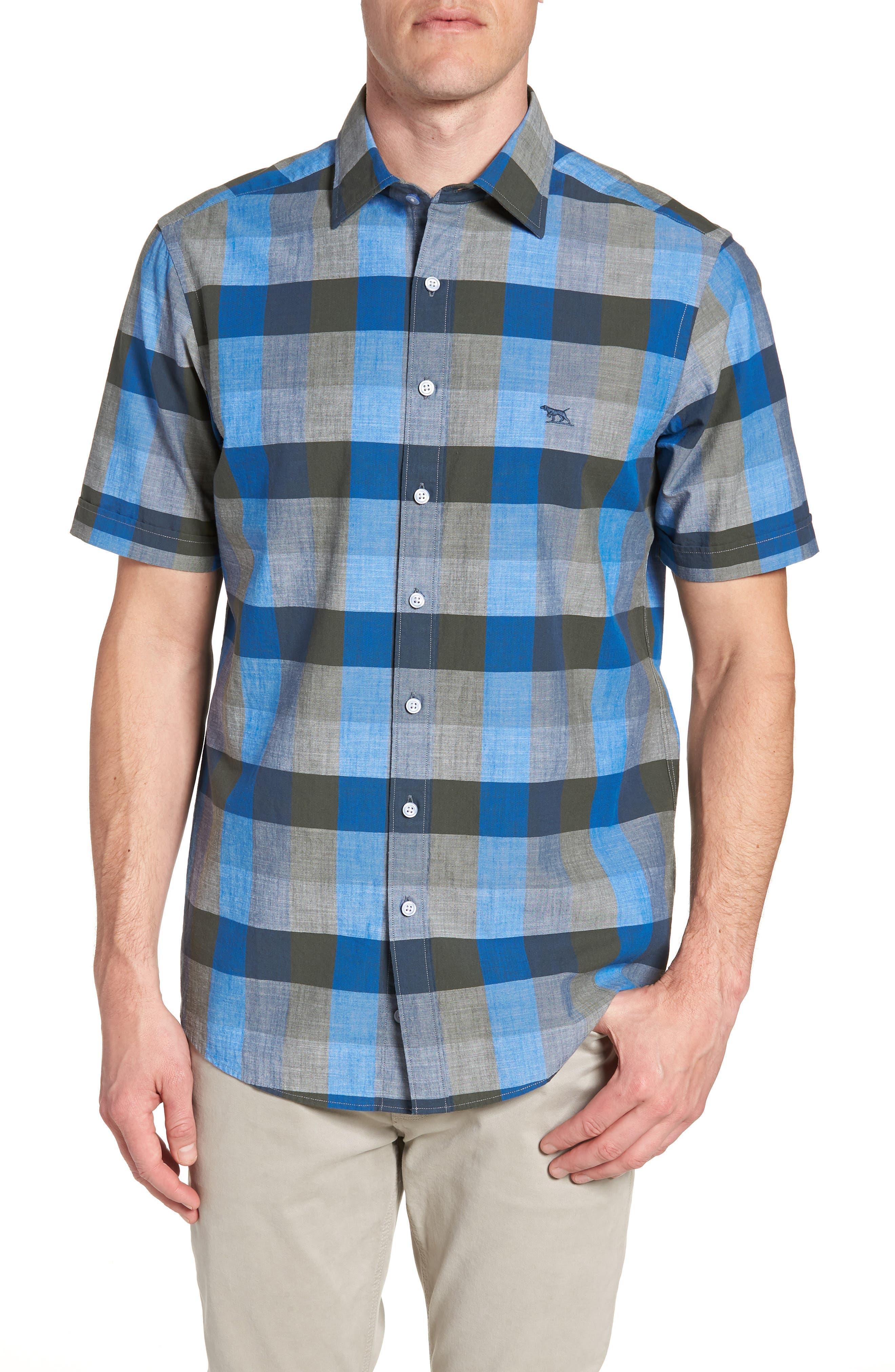 Knighton Regular Fit Sport Shirt,                             Main thumbnail 1, color,                             RIVER