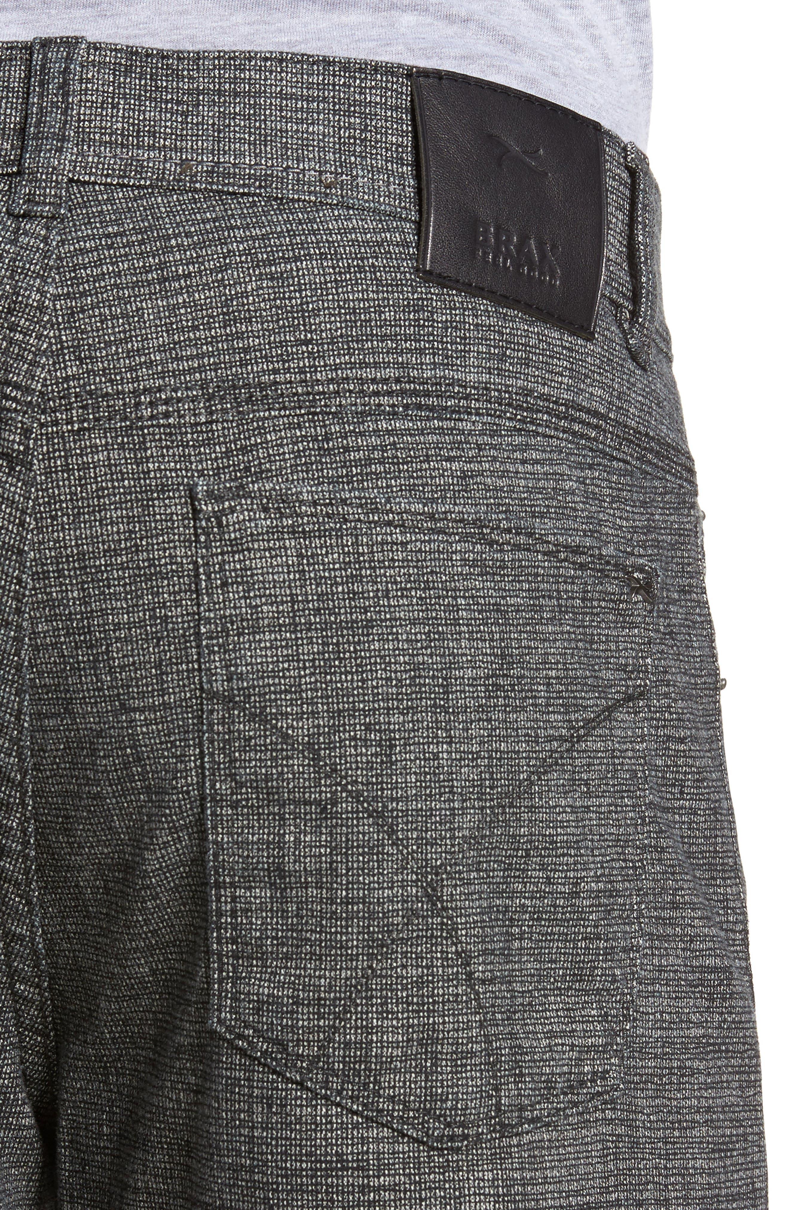 Cotton Blend Five-Pocket Trousers,                             Alternate thumbnail 4, color,                             005