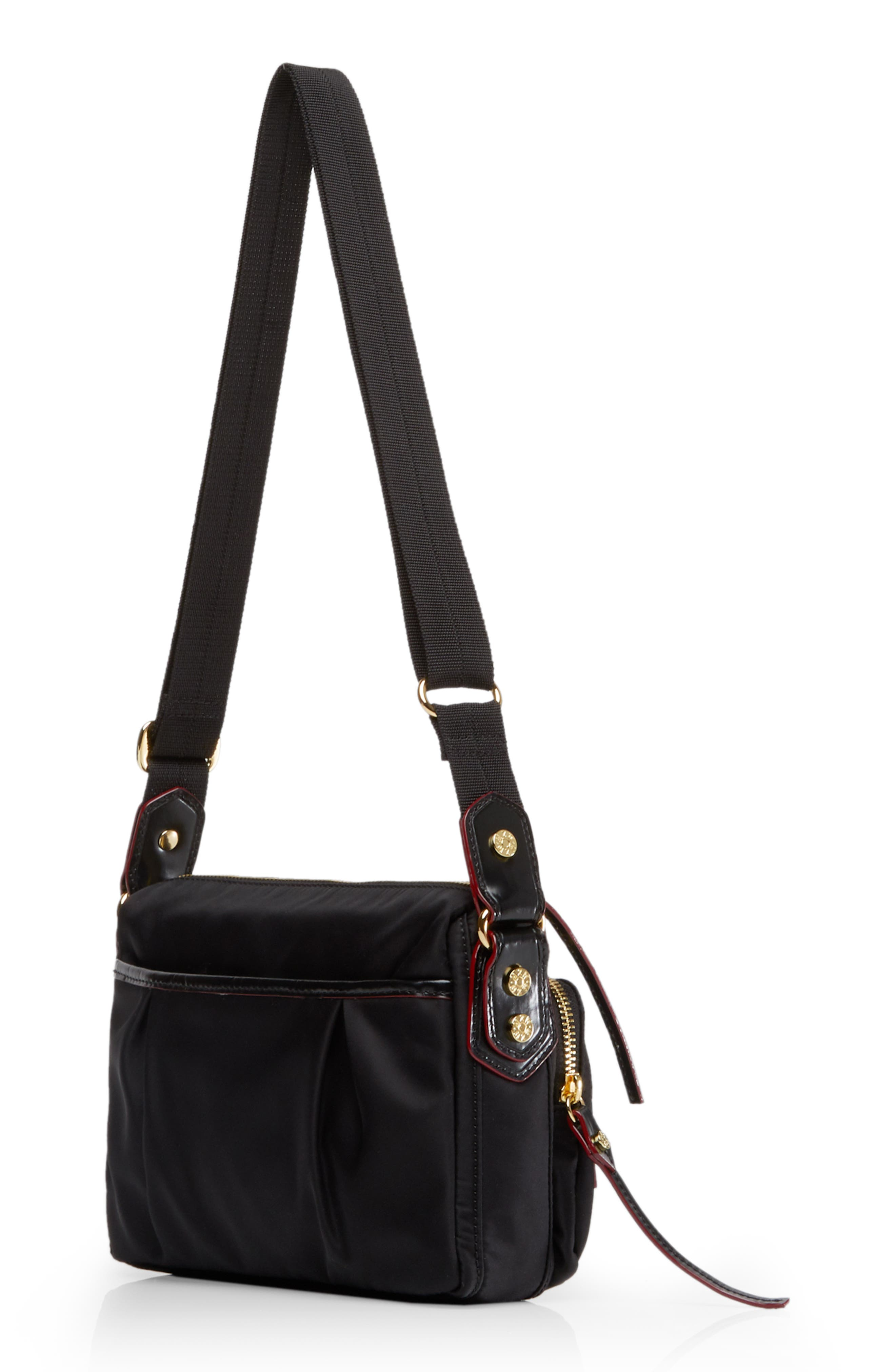Mini Paige Crossbody Bag,                             Alternate thumbnail 3, color,                             BLACK BEDFORD