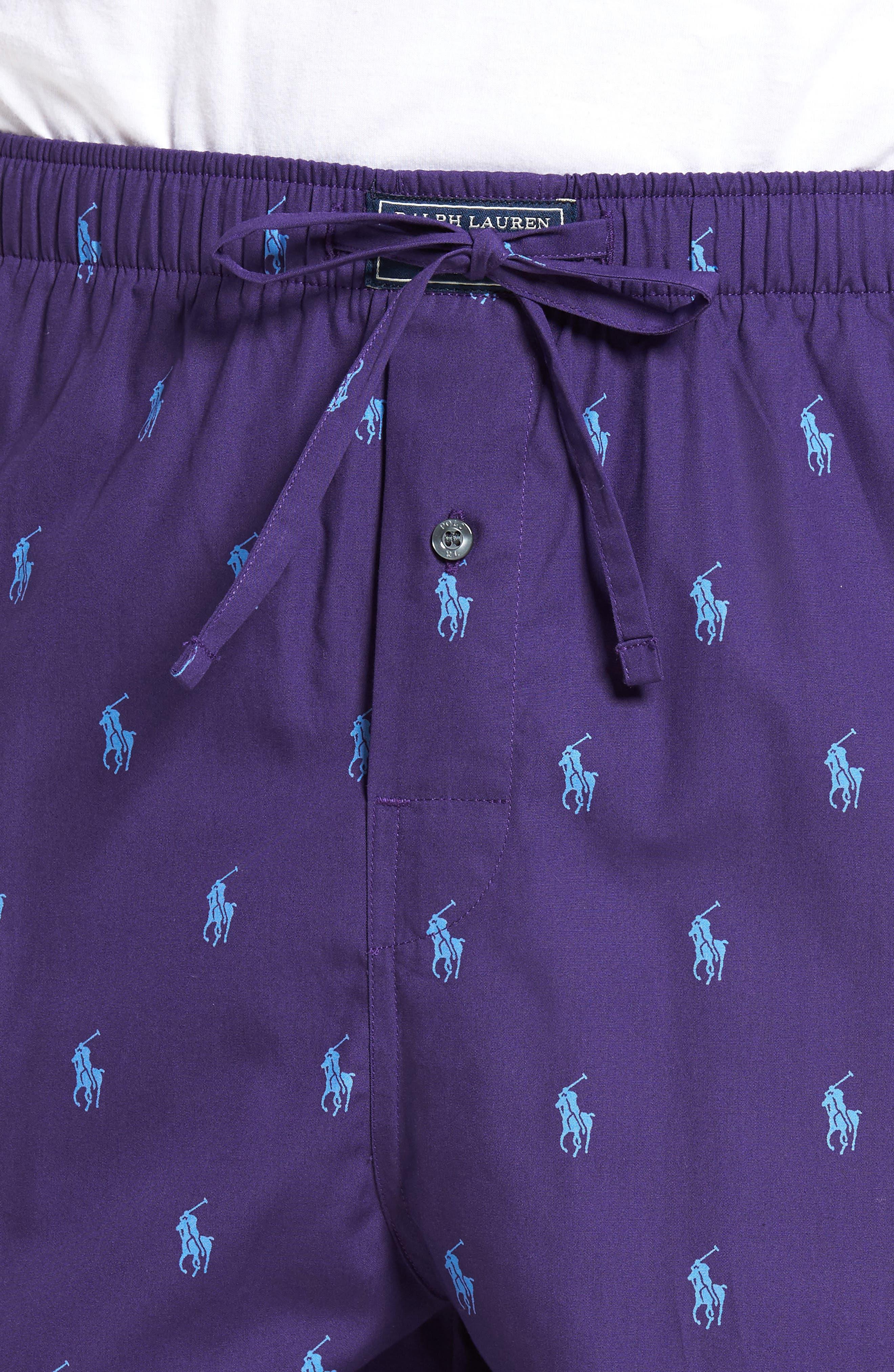 Polo Ralph Lauren Cotton Lounge Pants,                             Alternate thumbnail 19, color,