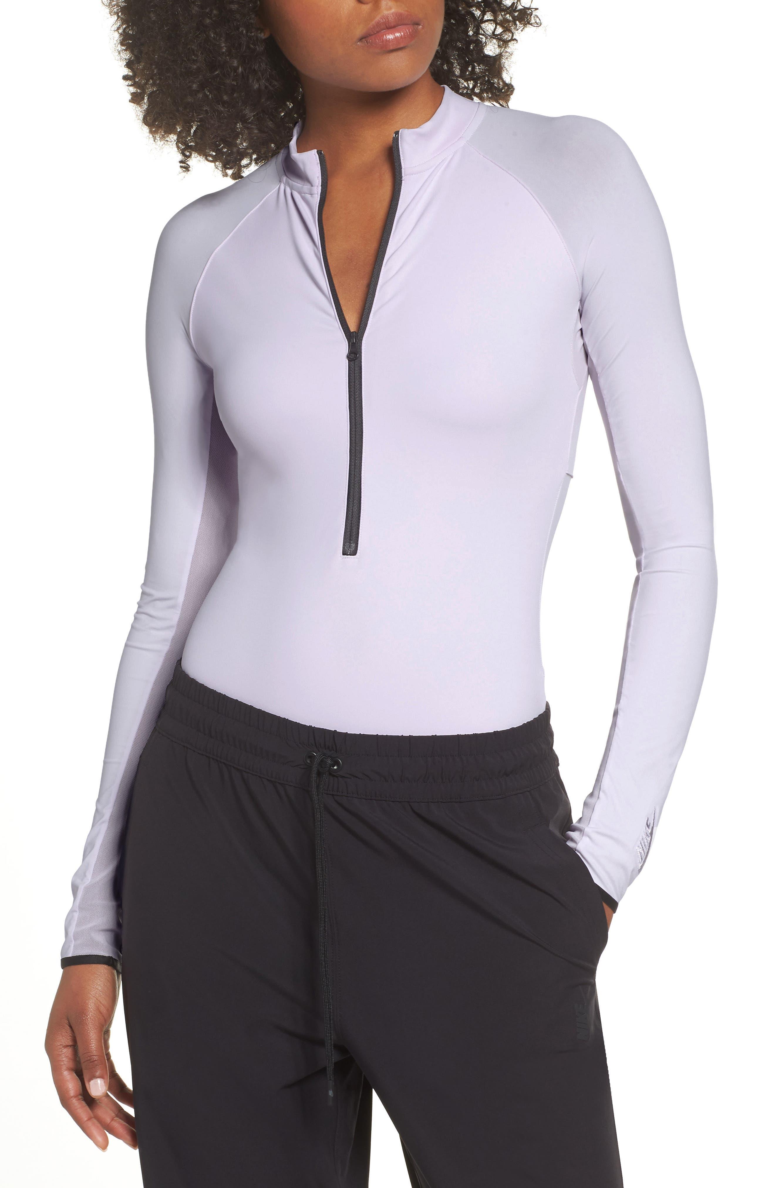 NRG Women's Dri-FIT Long Sleeve Bodysuit,                             Alternate thumbnail 2, color,                             BARELY GRAPE/ BARELY GRAPE