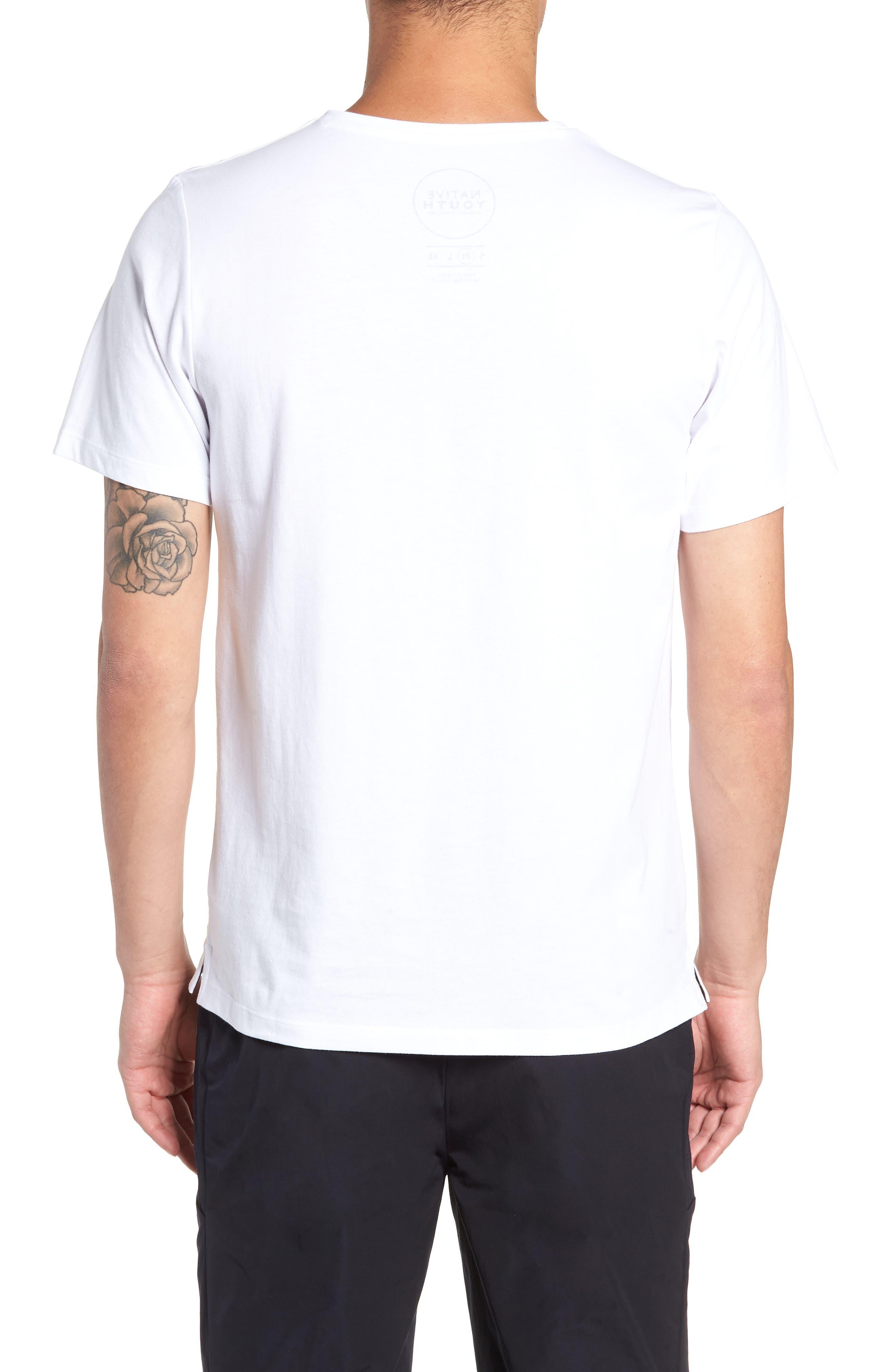 Placement Print T-Shirt,                             Alternate thumbnail 2, color,                             WHITE