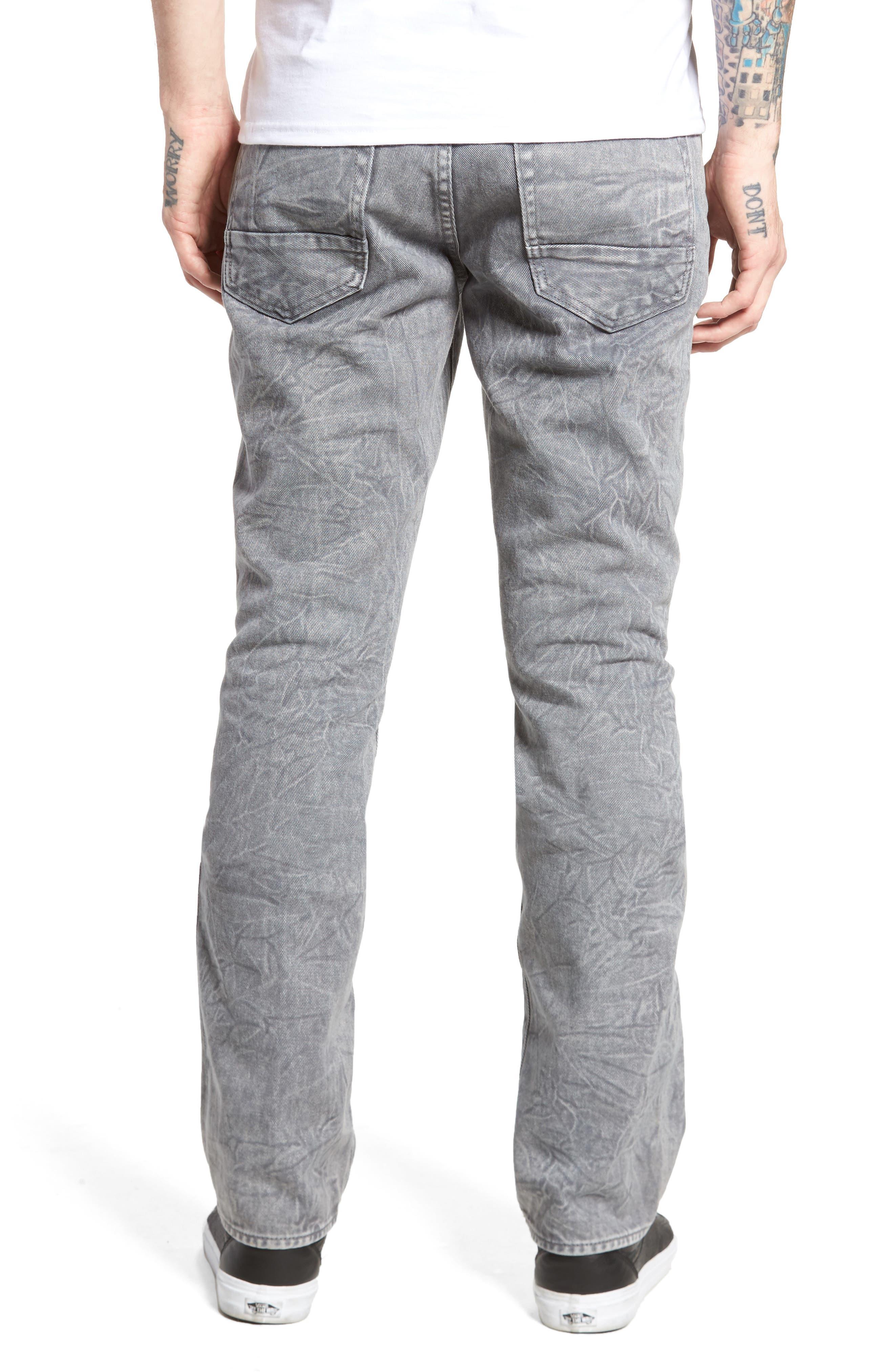 Slim Straight Leg Jeans,                             Alternate thumbnail 2, color,                             020