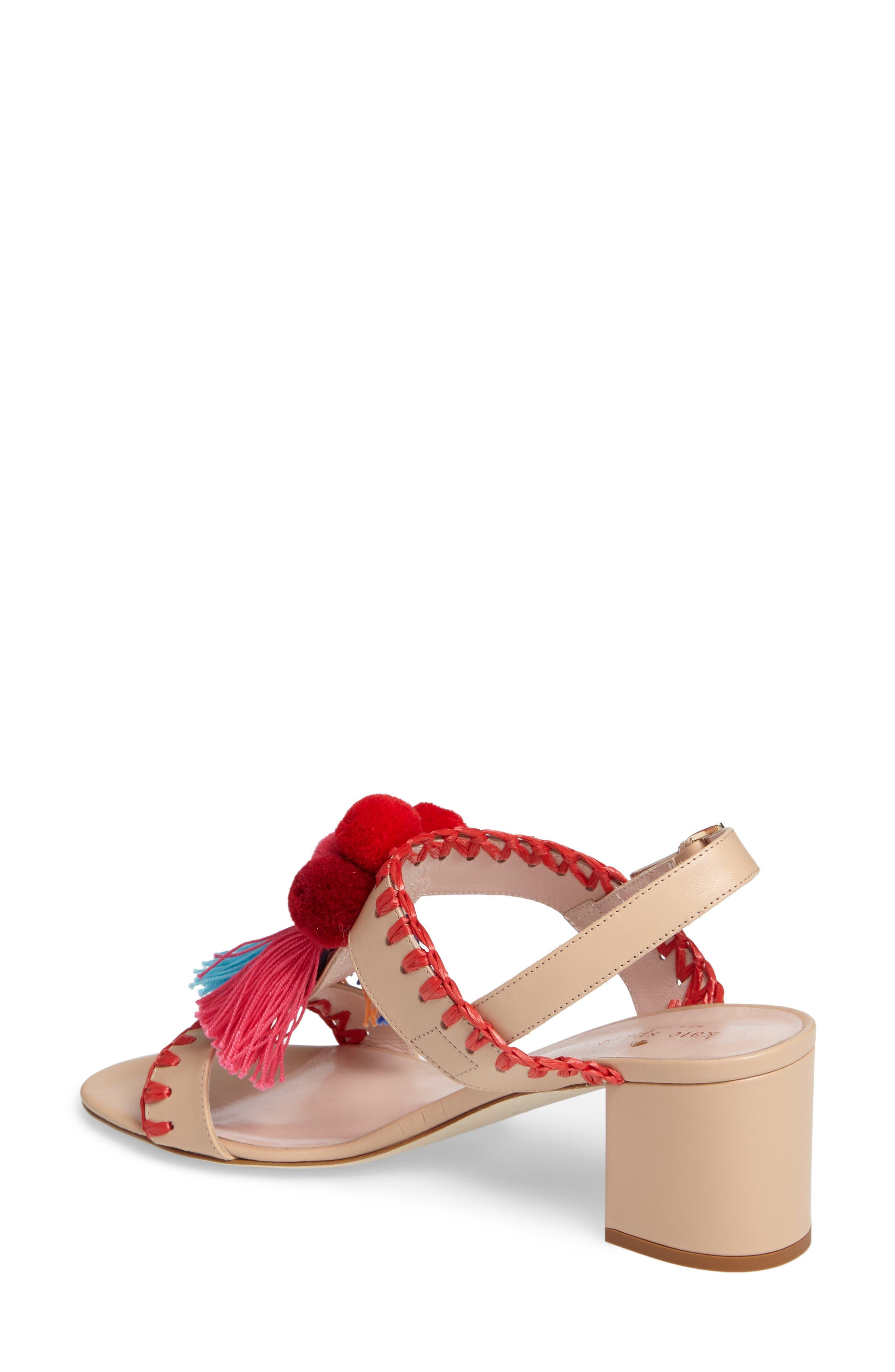 mcdougal pom tassel sandal,                             Alternate thumbnail 2, color,                             278