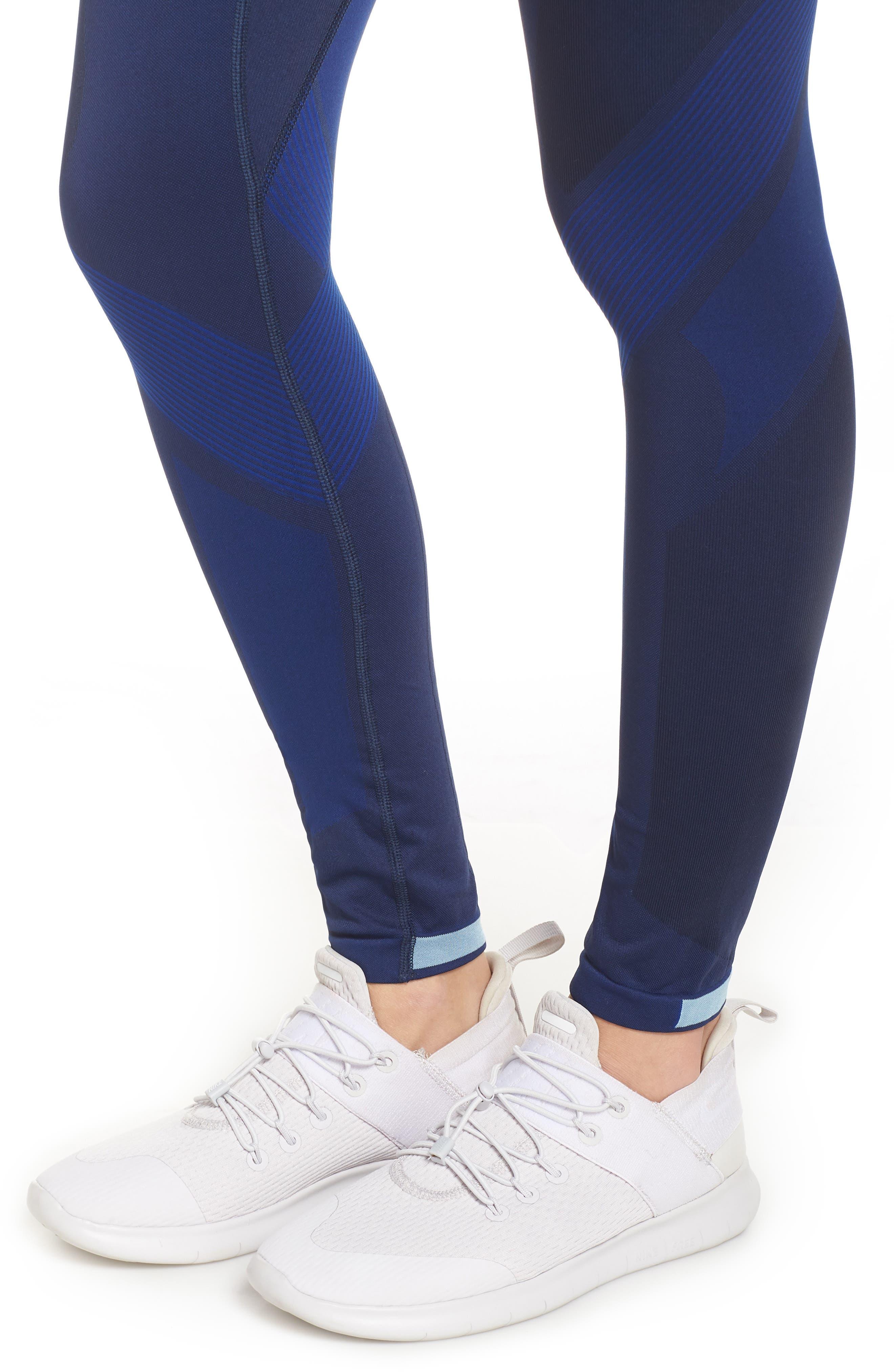 Motion High Waist Seamless Leggings,                             Alternate thumbnail 4, color,                             NAVY / BLUE