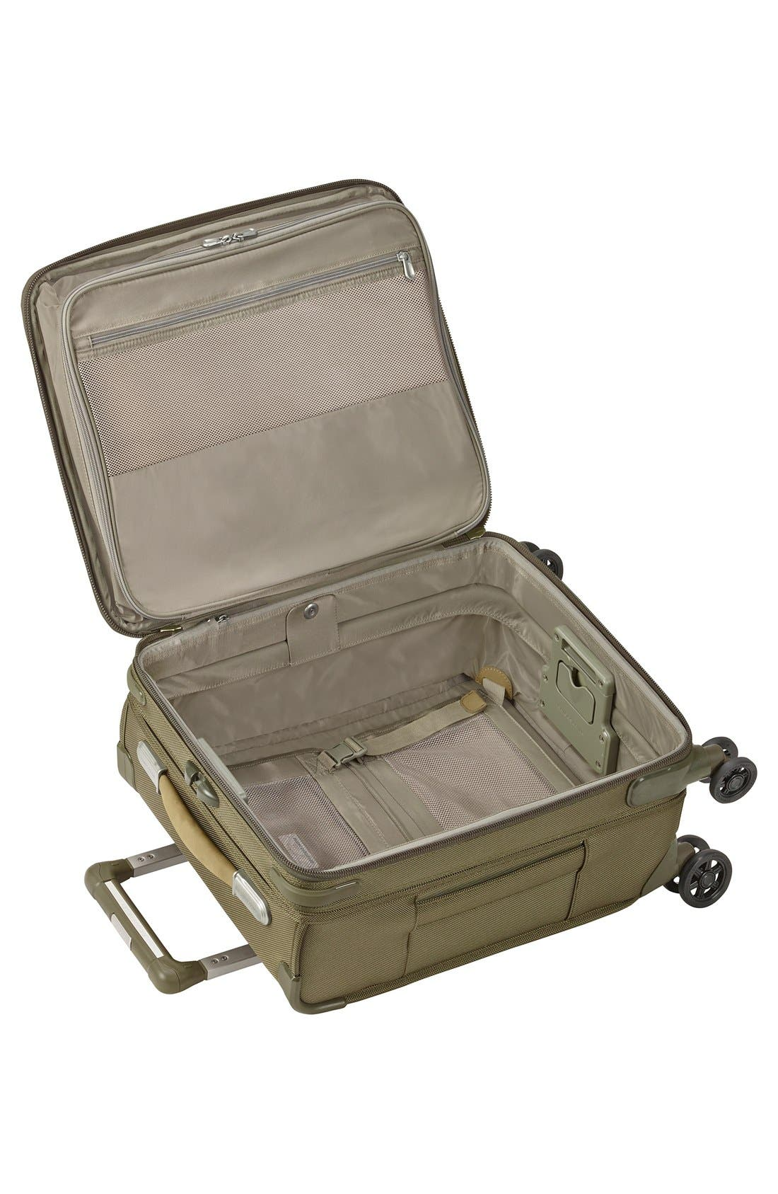 'Baseline - Commuter' Expandable Rolling Carry-On,                             Alternate thumbnail 2, color,                             OLIVE