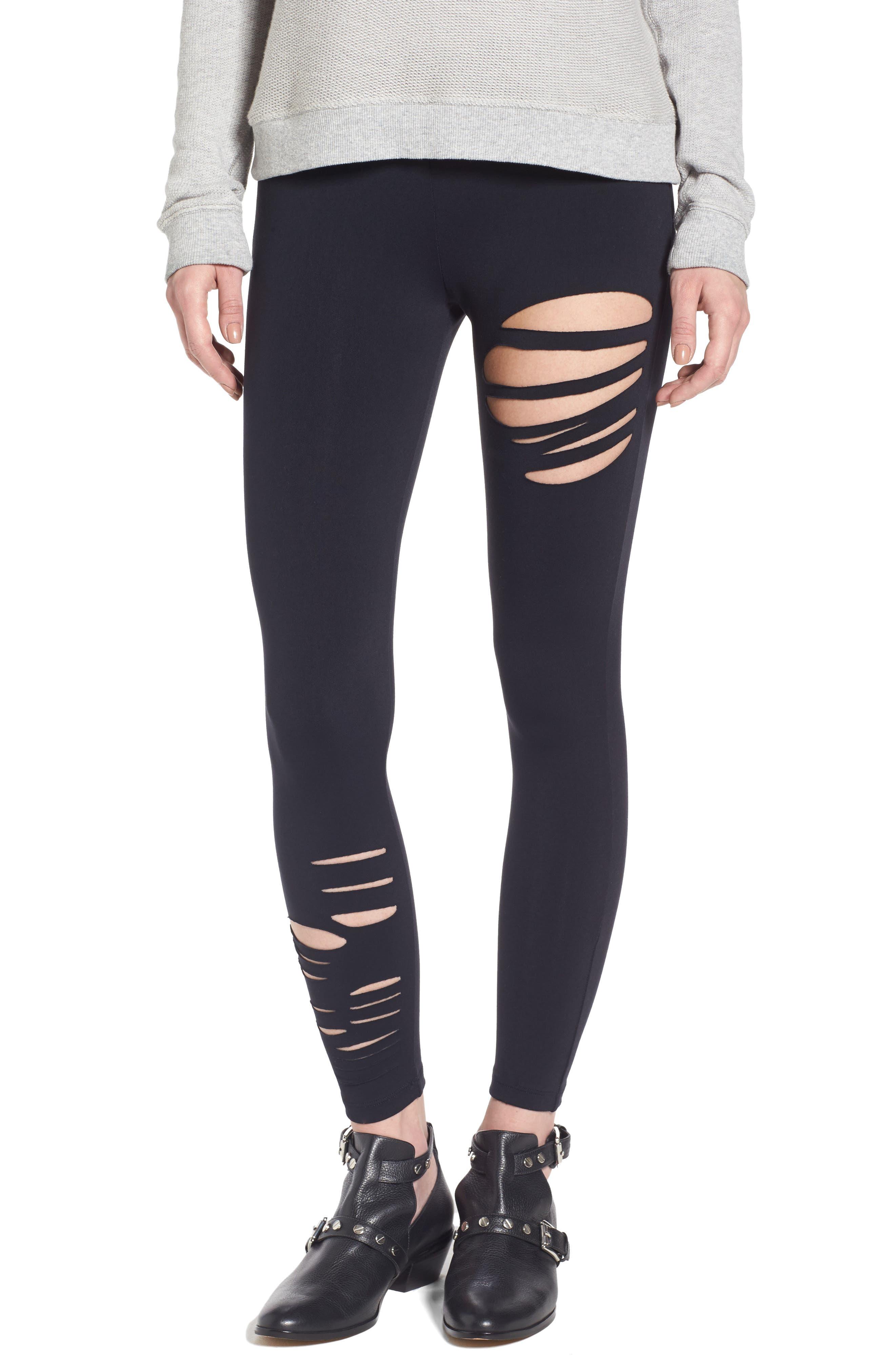 Ripped Leggings,                         Main,                         color, 001