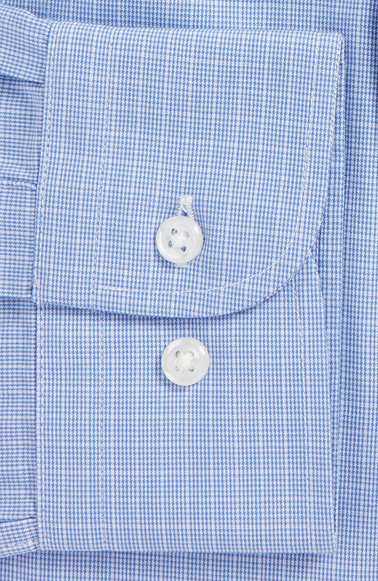Tech-Smart Traditional Fit Stretch Check Dress Shirt,                             Alternate thumbnail 4, color,                             450