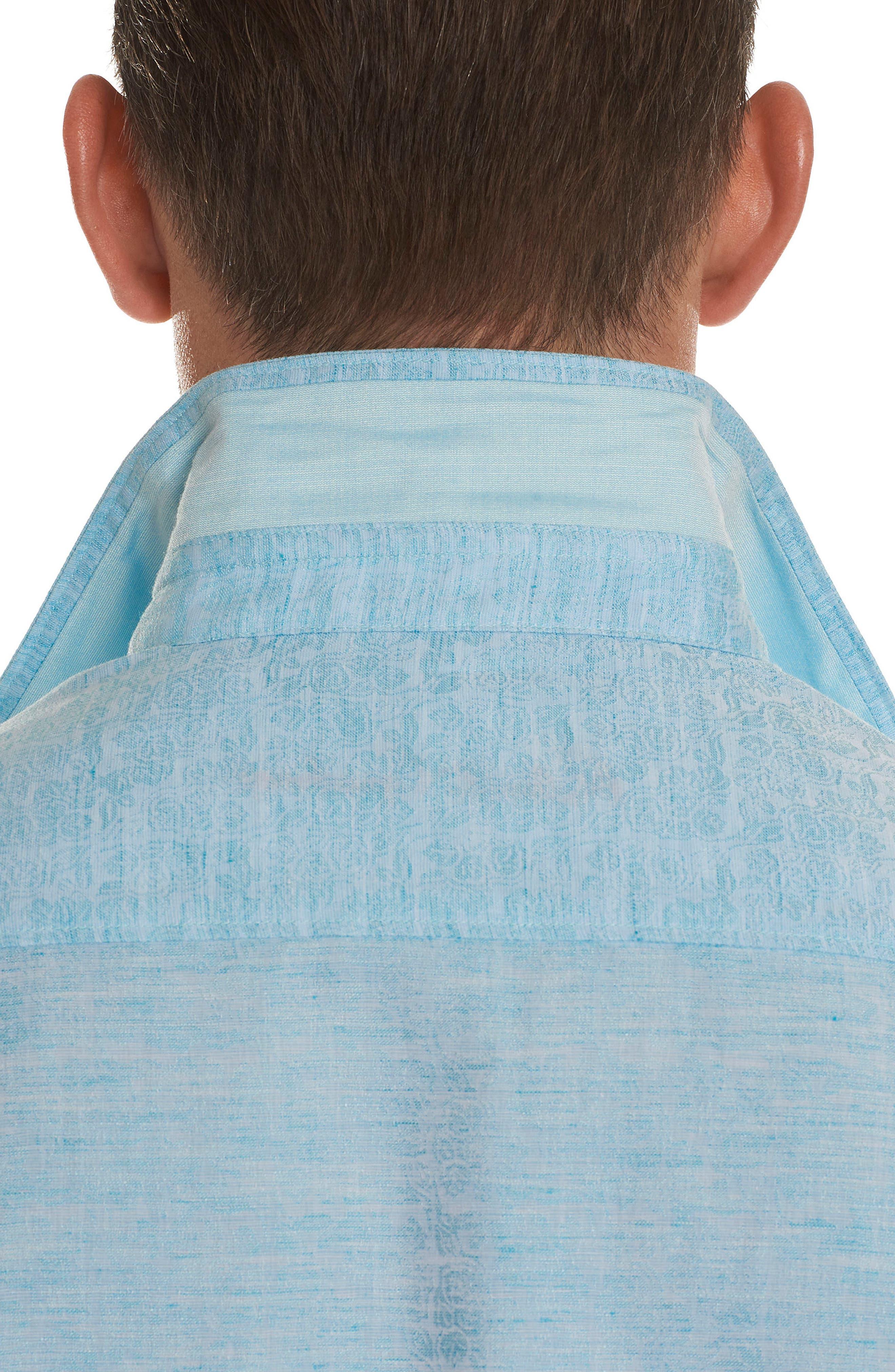 Cyprus Classic Fit Linen & Cotton Sport Shirt,                             Alternate thumbnail 10, color,