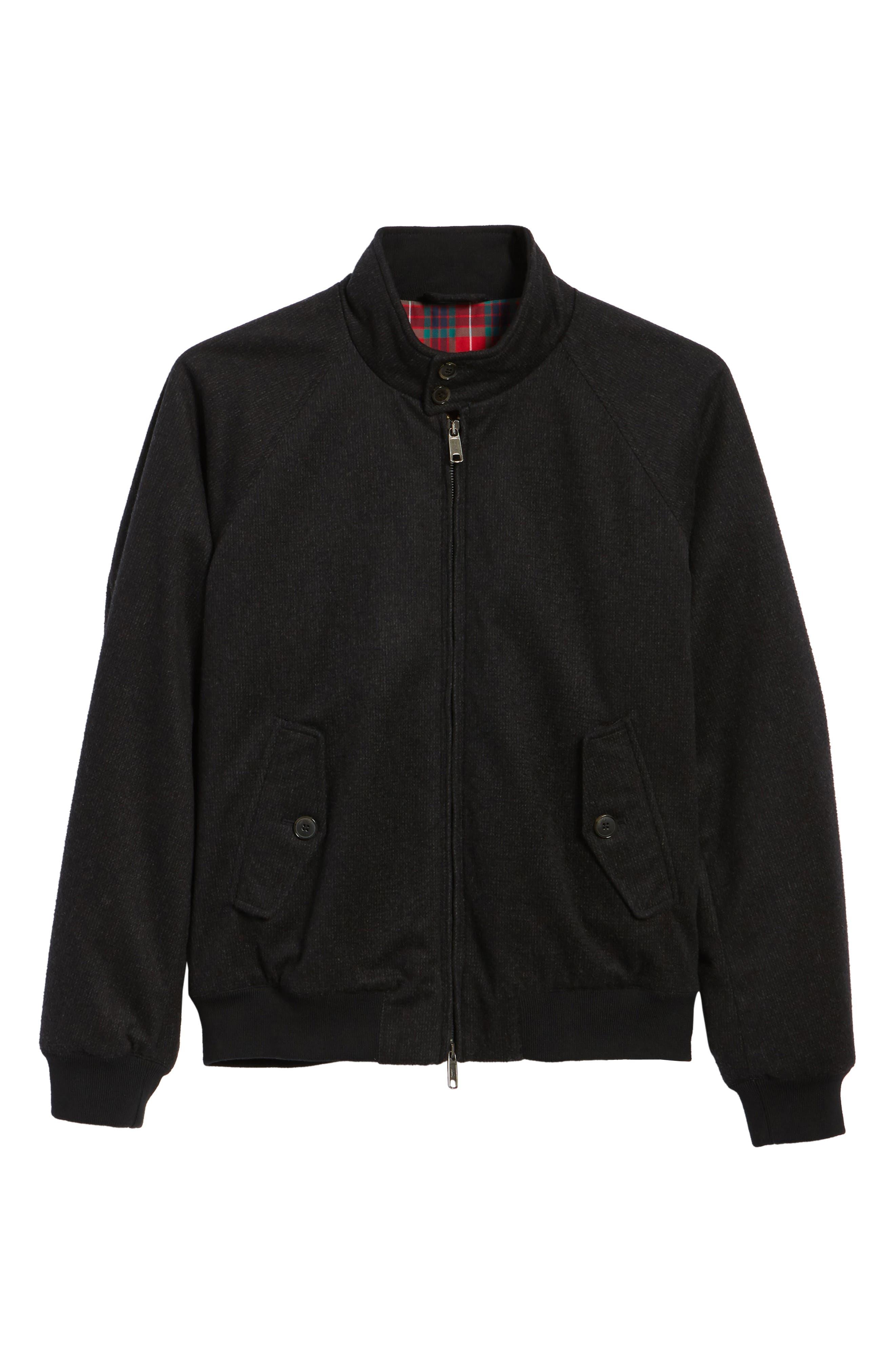 G9 Waterproof Wool Blend Harrington Jacket,                             Alternate thumbnail 5, color,                             020
