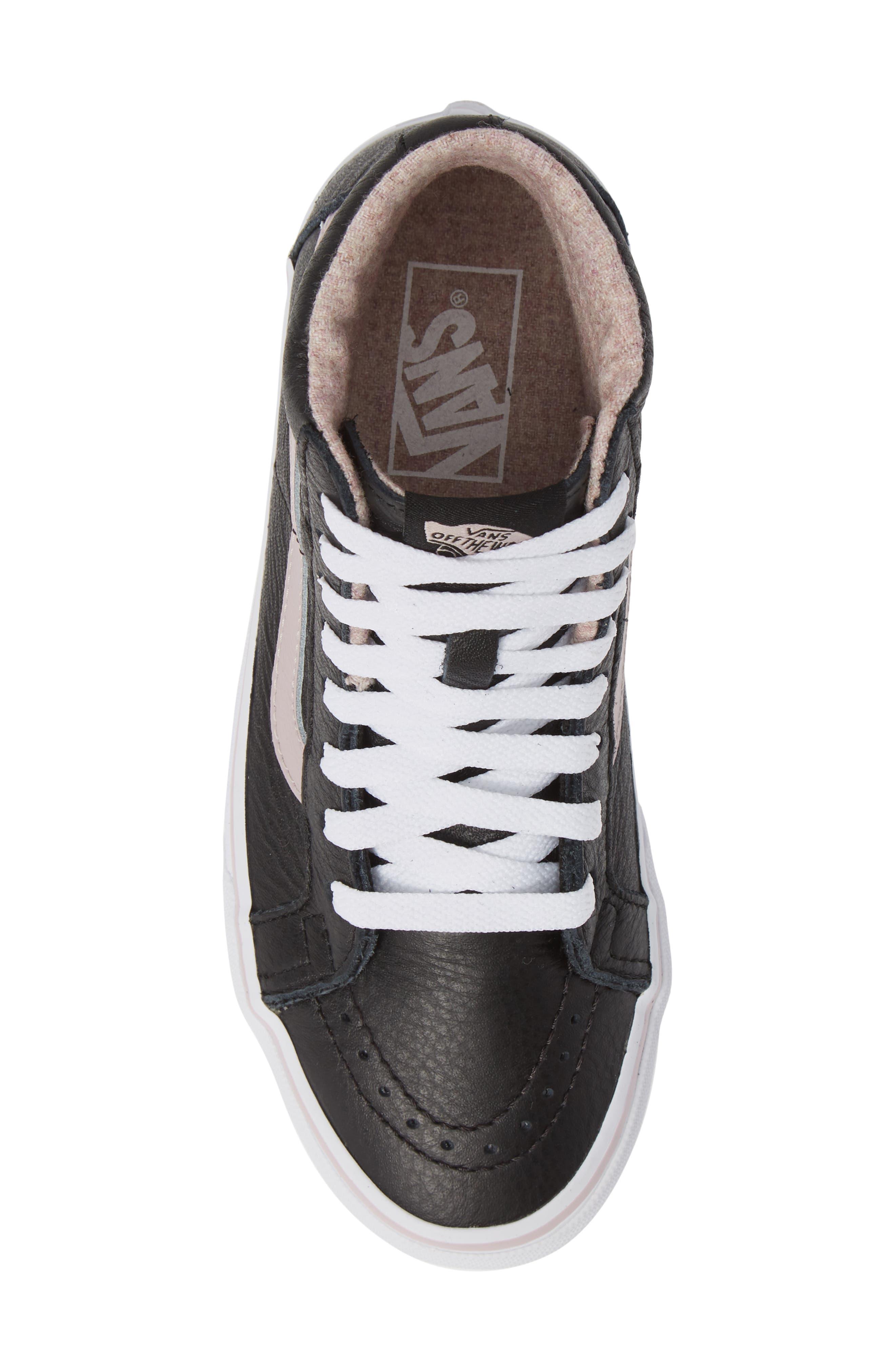 VANS,                             Sk8-Hi Reissue Sneaker,                             Alternate thumbnail 5, color,                             001