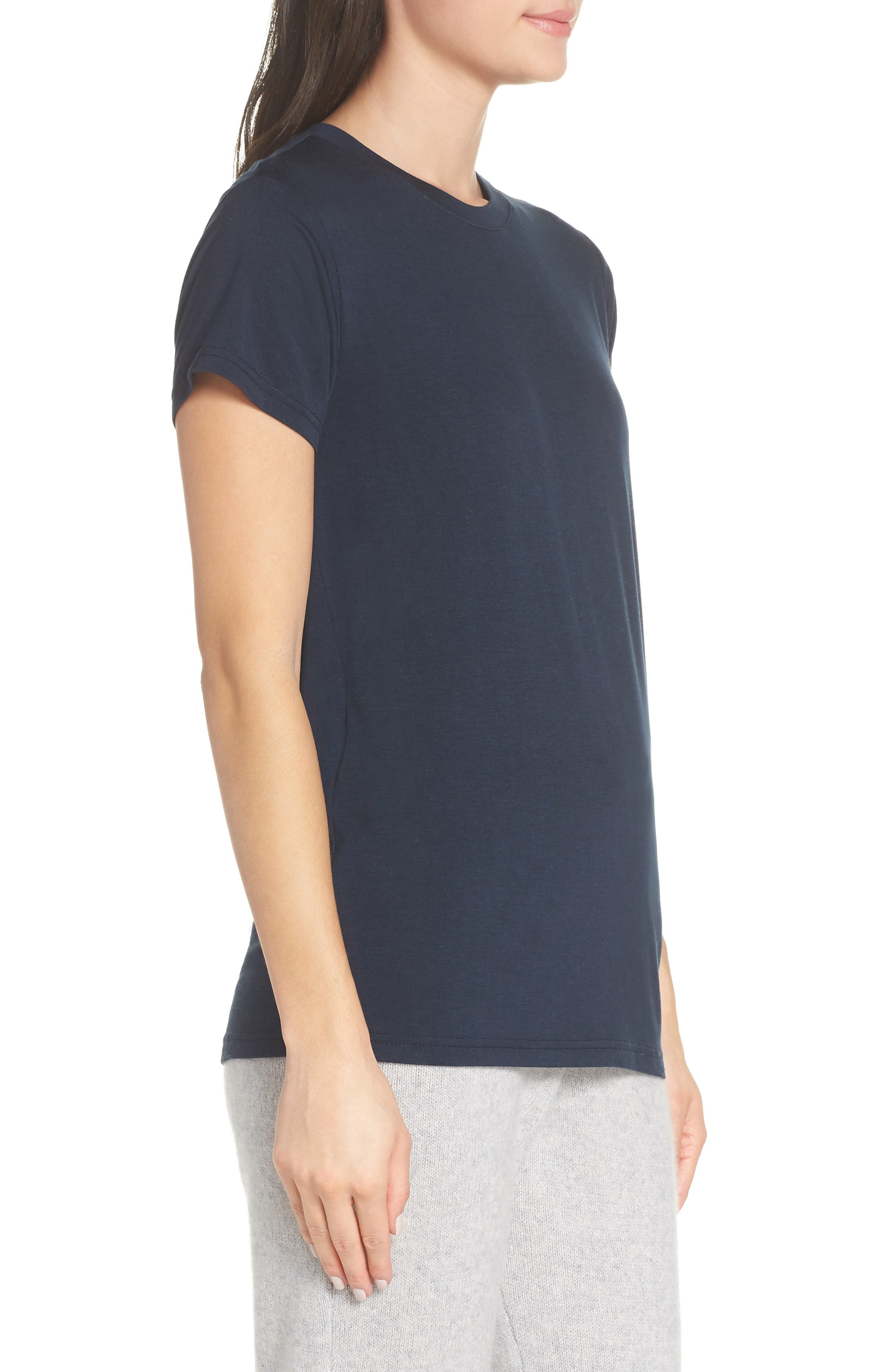 Easy Tee,                             Alternate thumbnail 3, color,                             NAVY CARBON