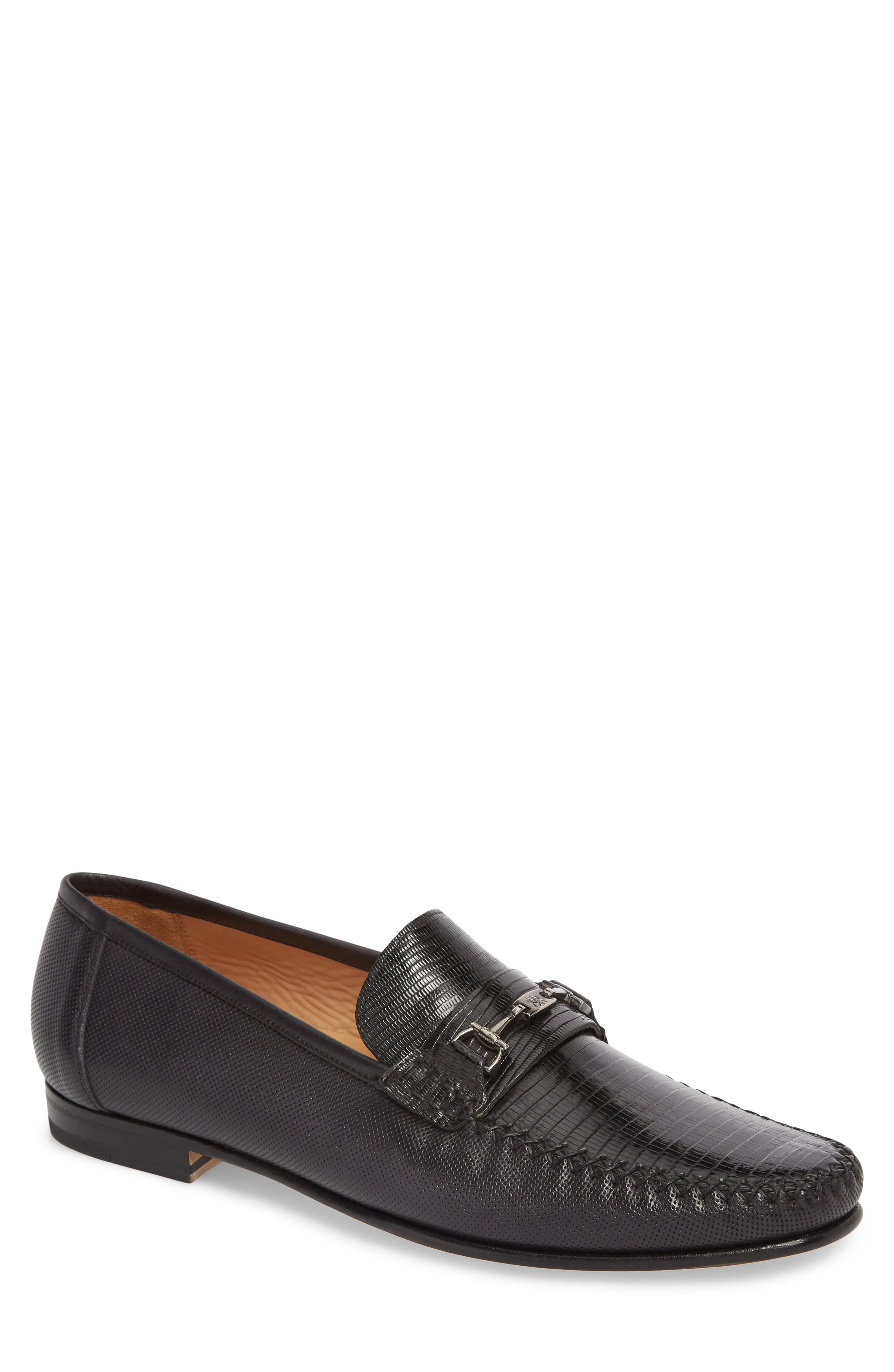 Sileno Lizard Loafer,                         Main,                         color, BLACK LEATHER