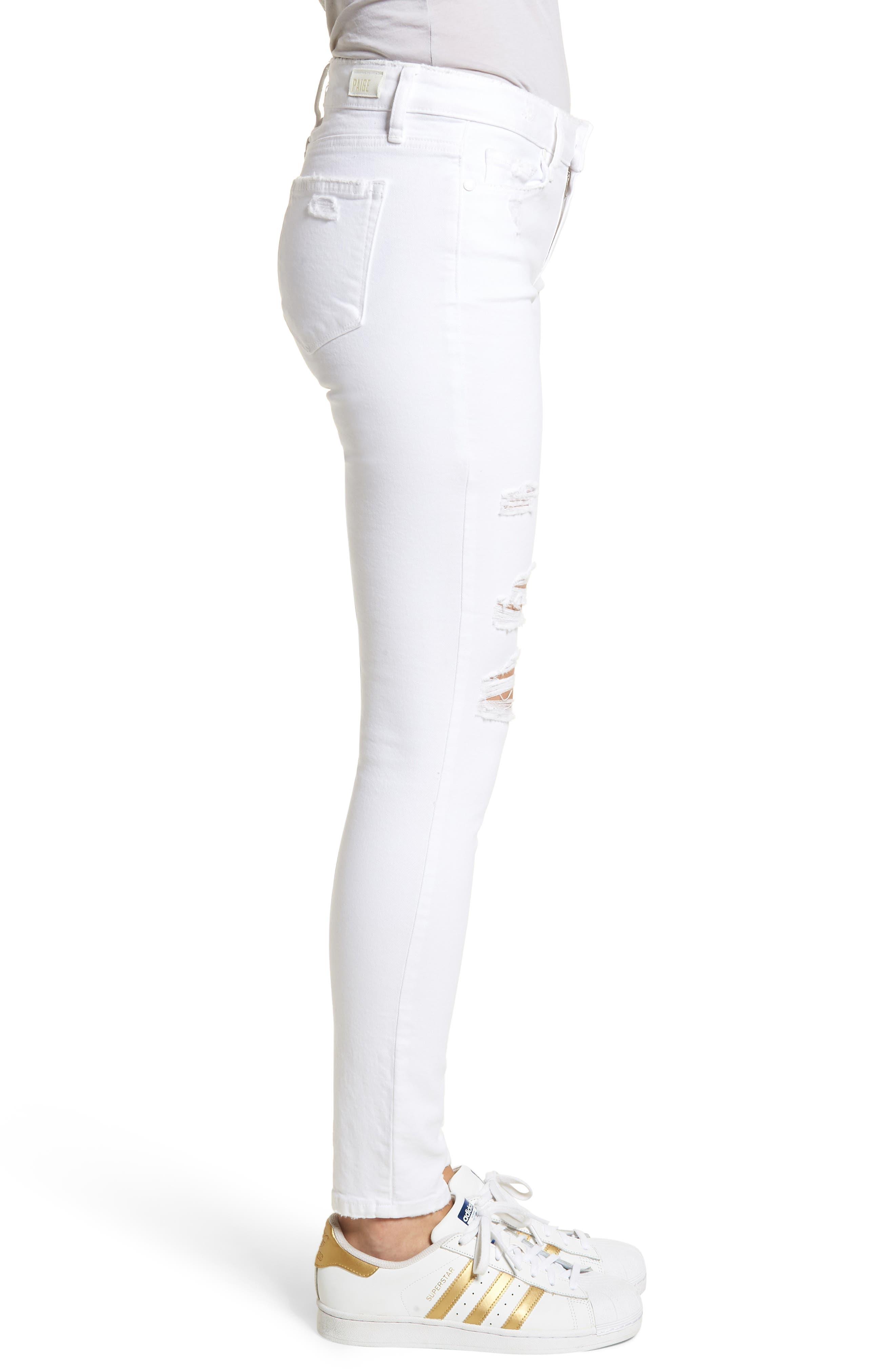 Verdugo Ripped Ultra Skinny Jeans,                             Alternate thumbnail 3, color,                             100