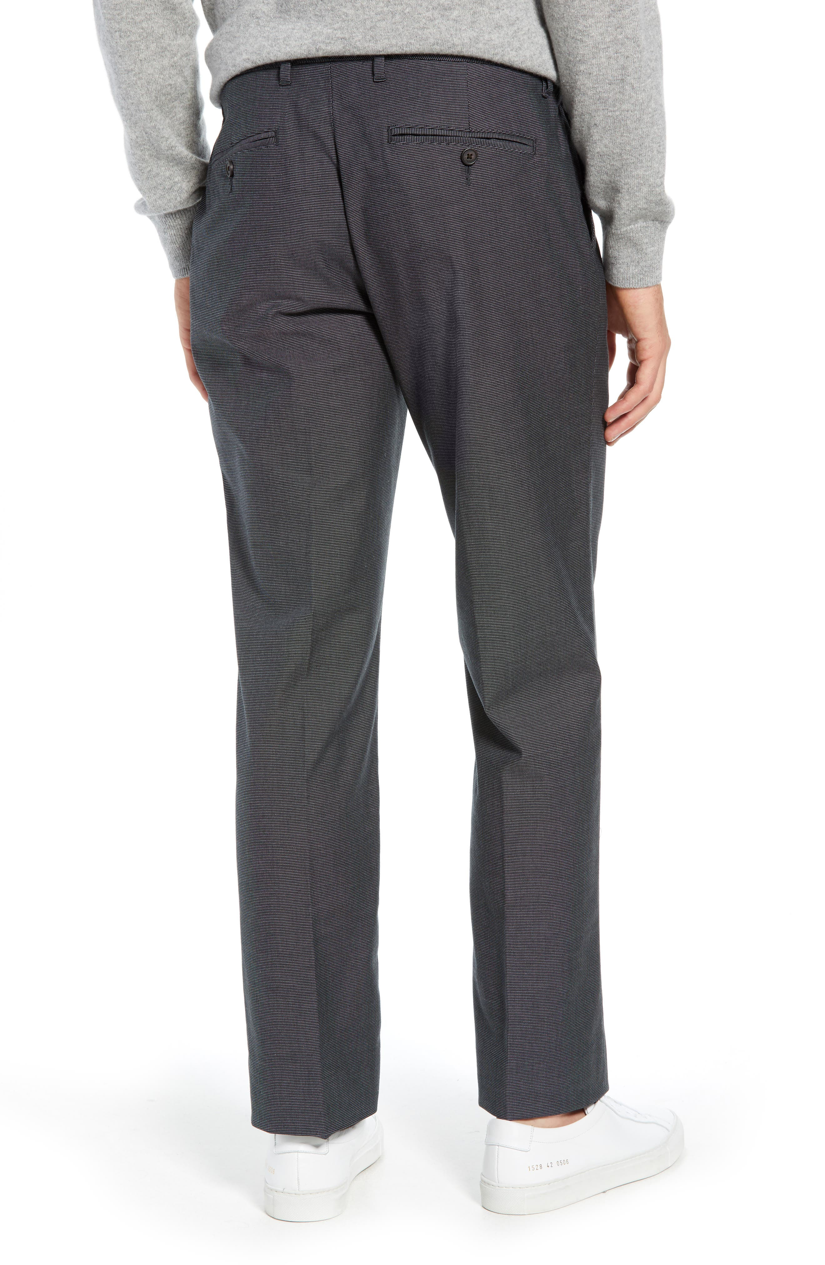 Weekday Warrior Straight Leg Stretch Dress Pants,                             Alternate thumbnail 2, color,                             TUESDAY CHARCOAL
