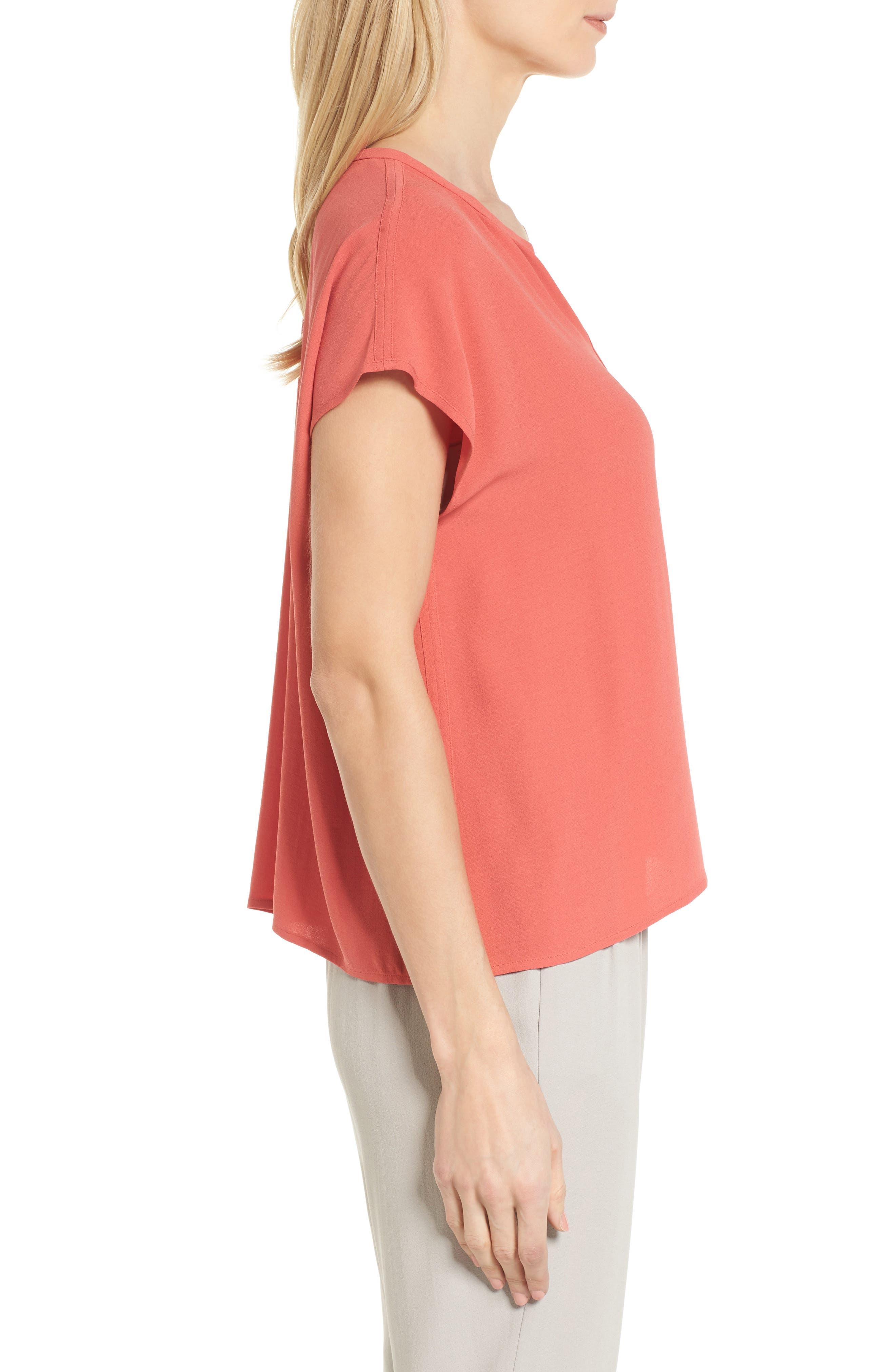 Split Neck Silk Shirt,                             Alternate thumbnail 10, color,