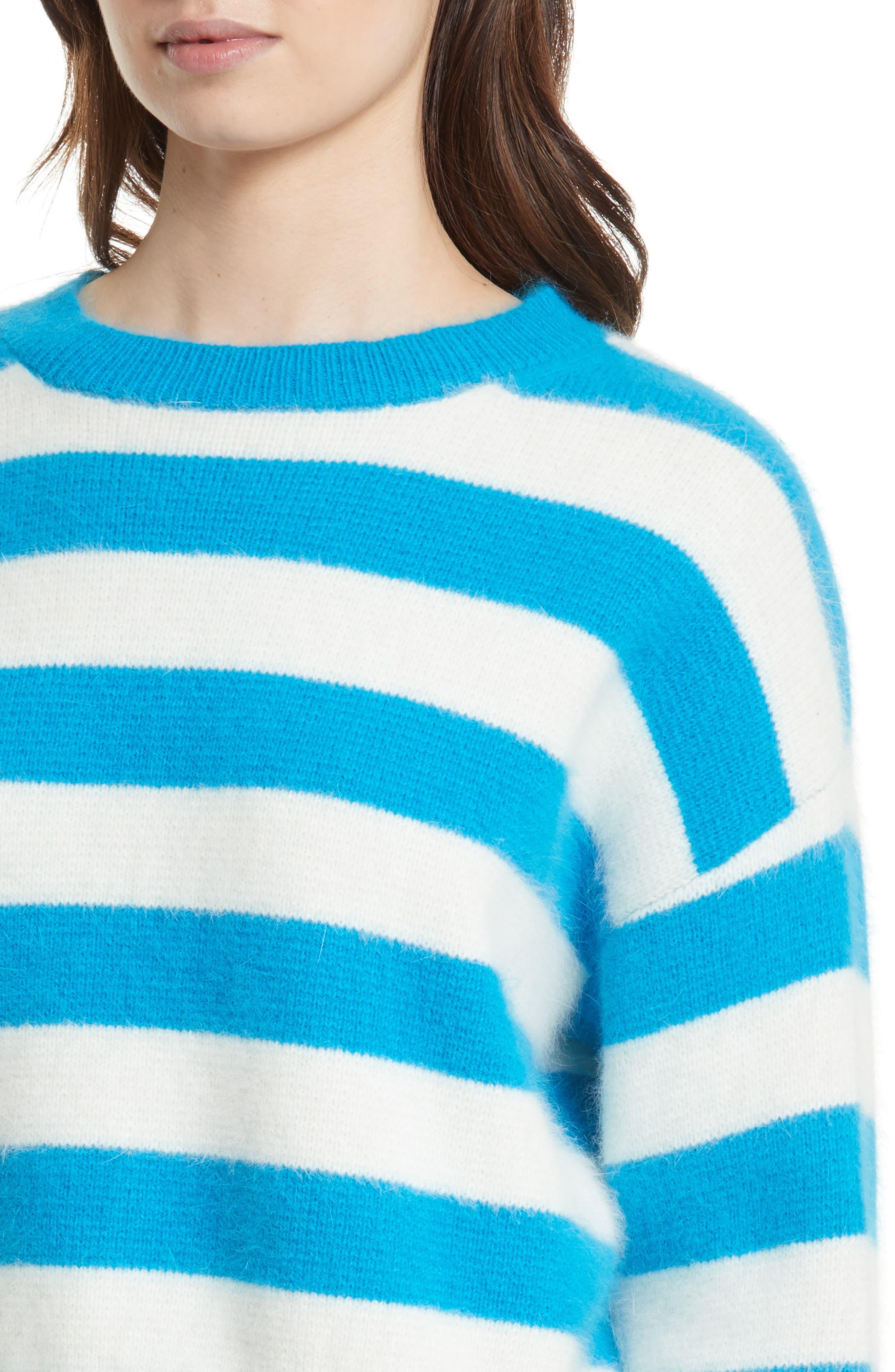 Stripe Baseball Sweater,                             Alternate thumbnail 4, color,                             470