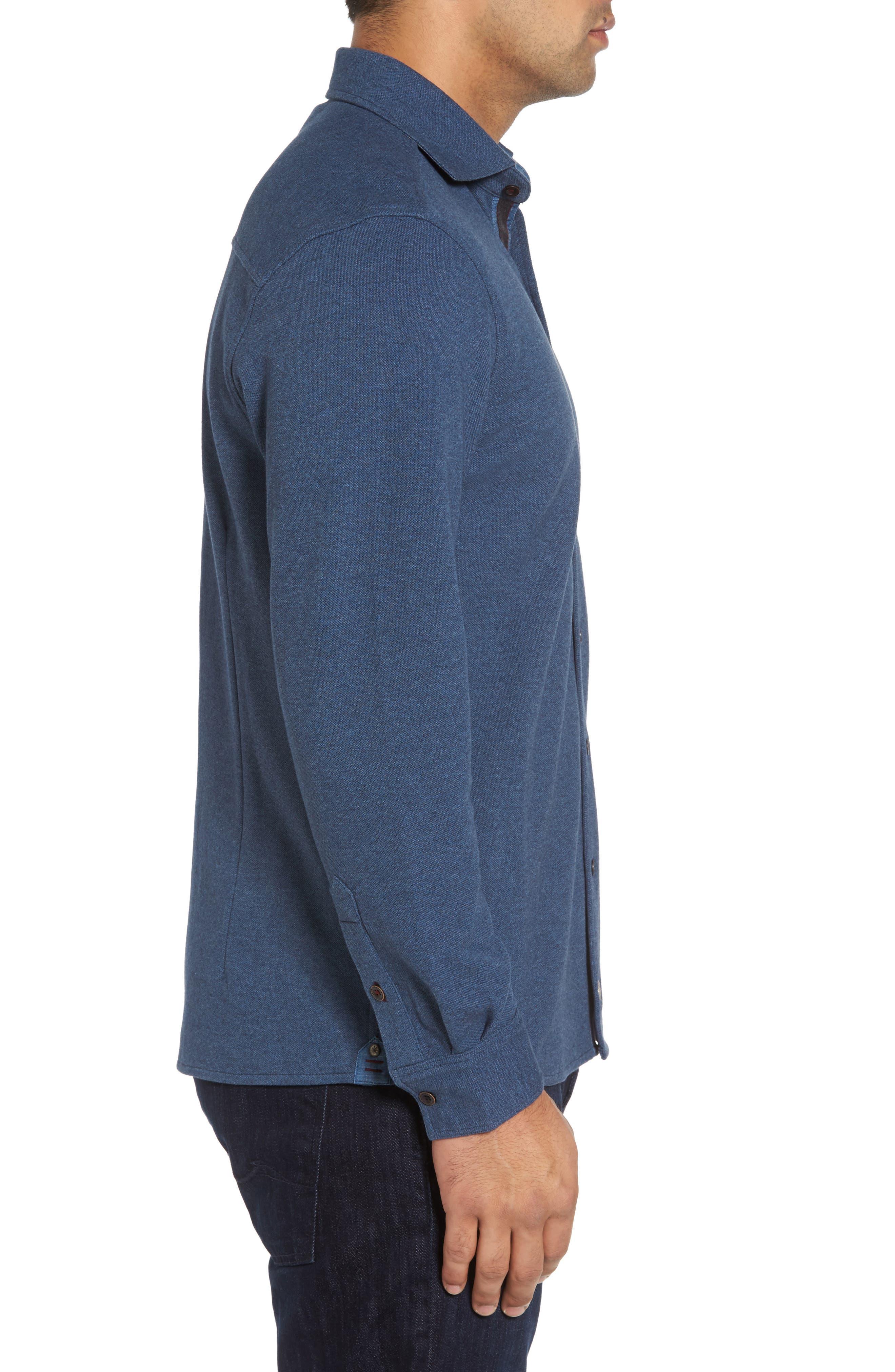 Shandy Heathered Knit Sport Shirt,                             Alternate thumbnail 6, color,