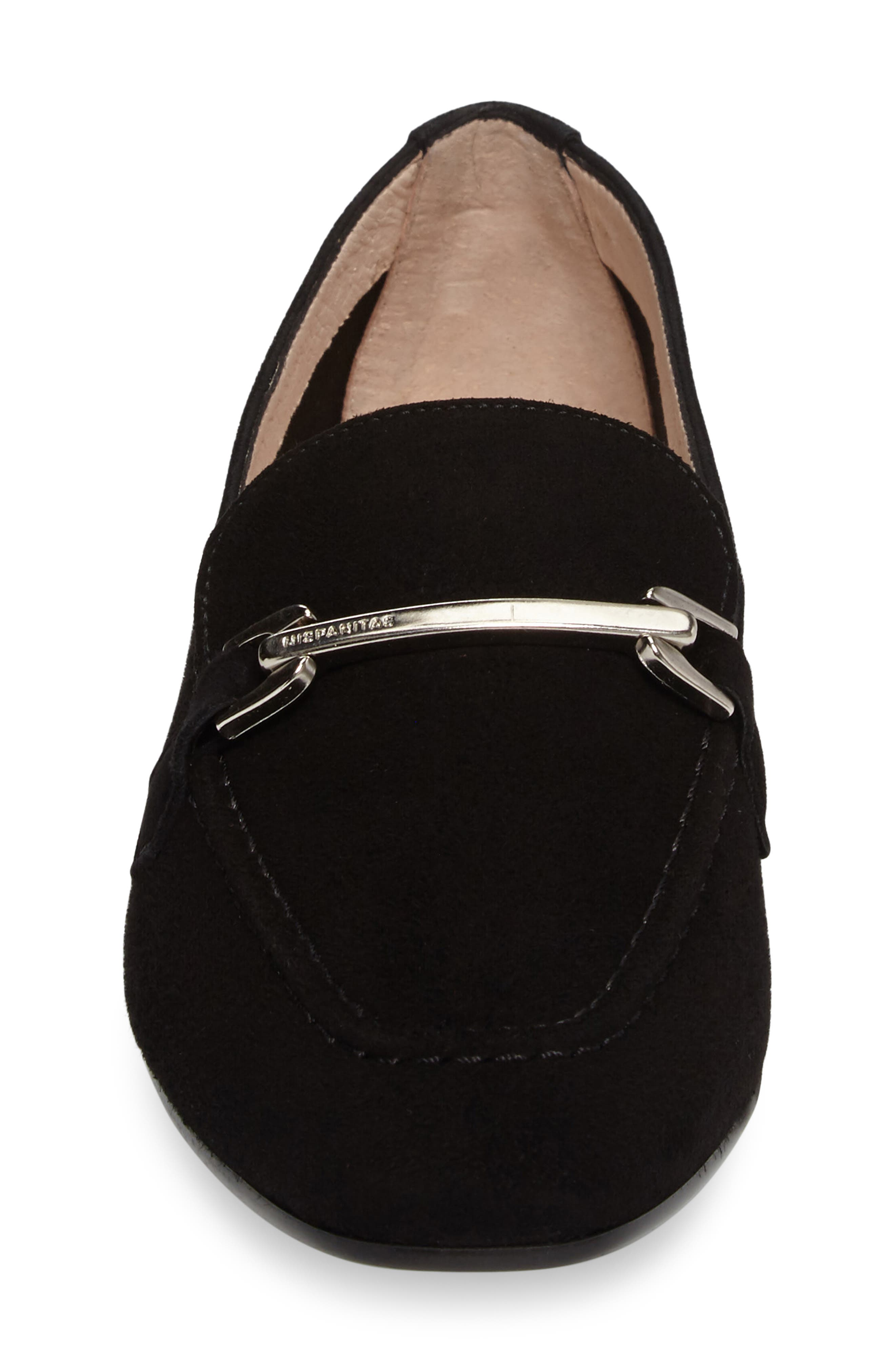 Evelyn Loafer,                             Alternate thumbnail 4, color,                             BLACK FABRIC