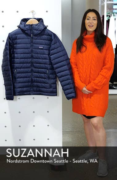 Packable Windproof & Water Resistant Goose Down Sweater Hooded Jacket, sales video thumbnail