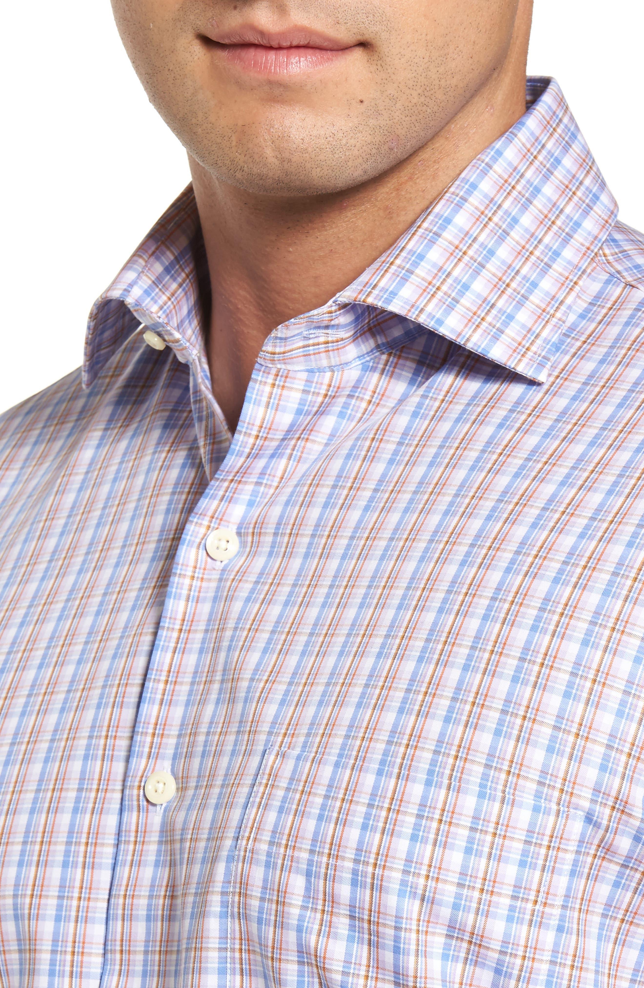 Alpine Regular Fit Plaid Sport Shirt,                             Alternate thumbnail 4, color,