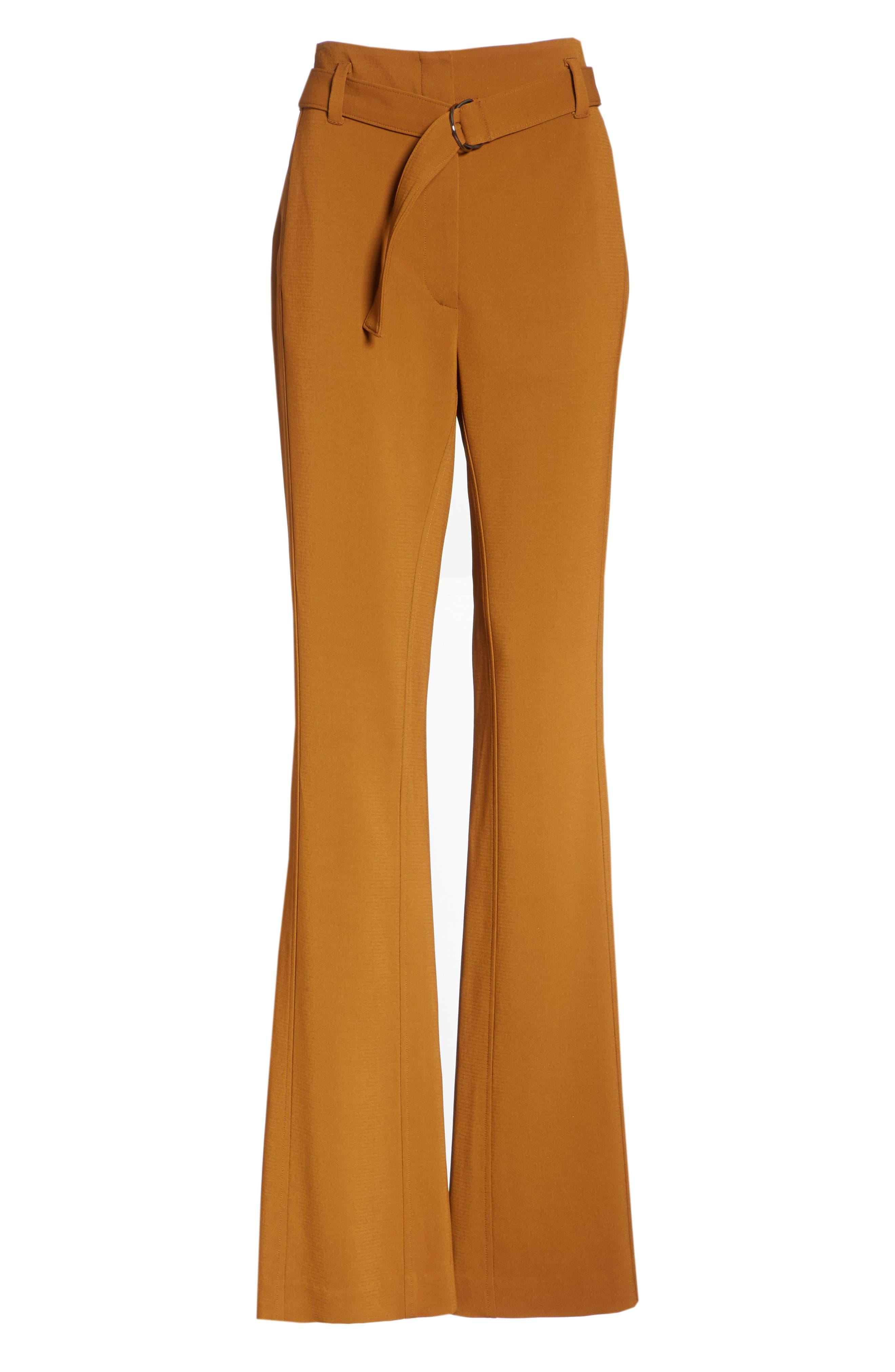 Morgan Flare Pants, Alternate, color, COGNAC