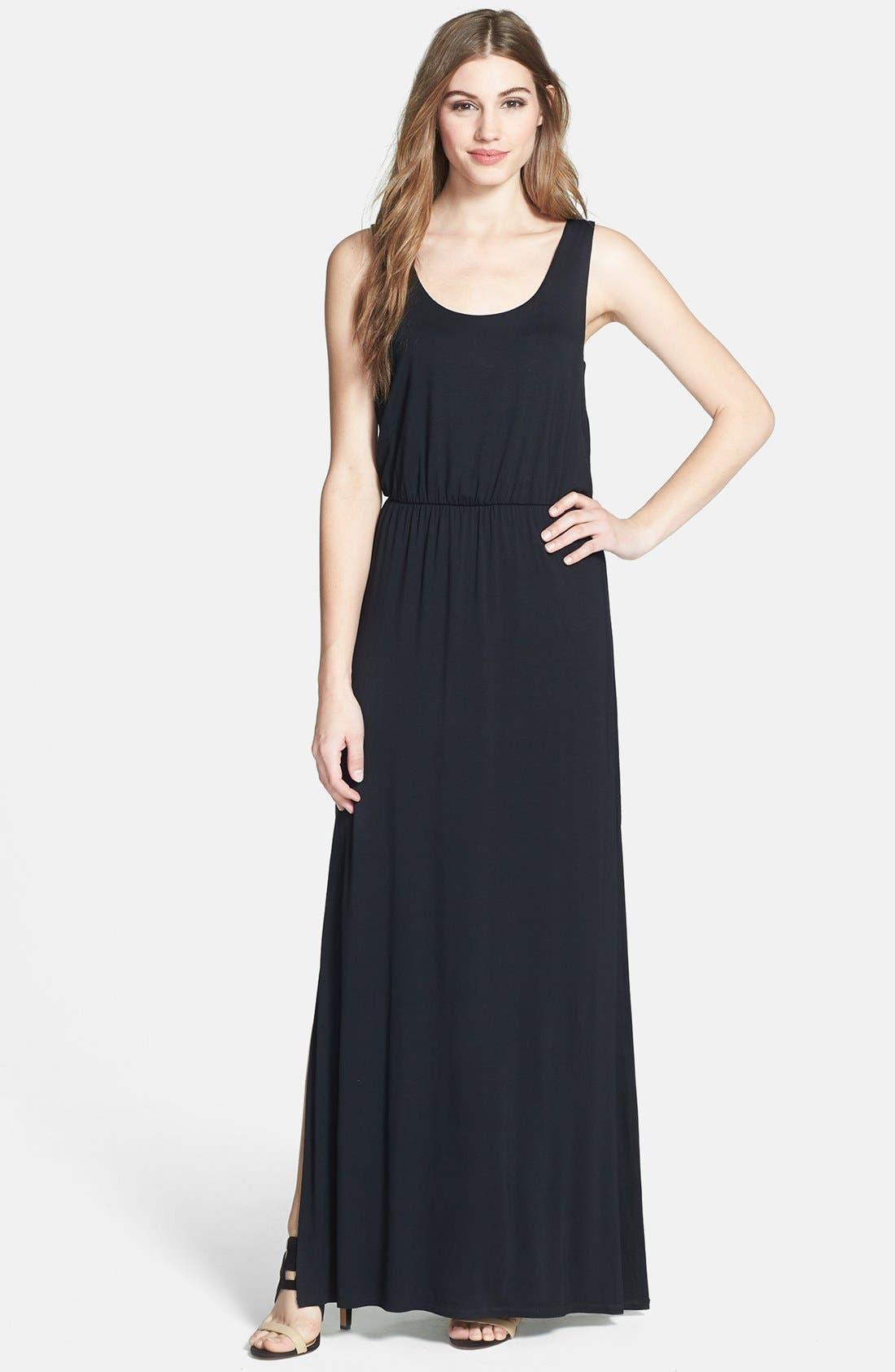 Jersey Tank Maxi Dress,                         Main,                         color, 001