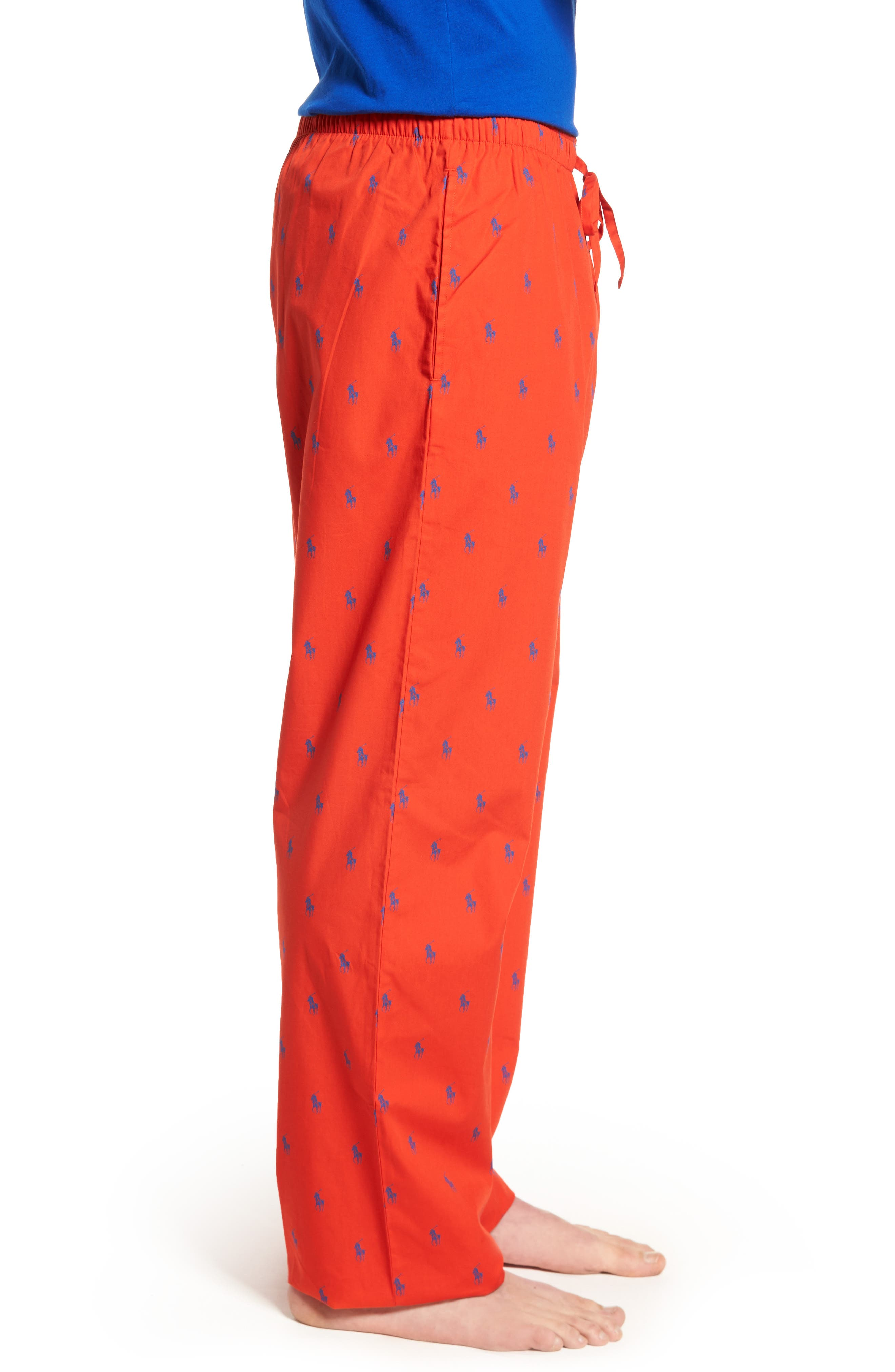 Polo Ralph Lauren Cotton Lounge Pants,                             Alternate thumbnail 15, color,