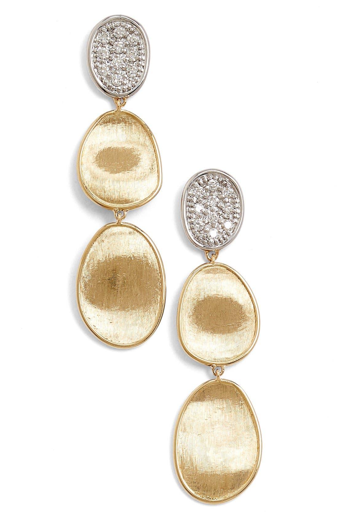 'Lunaria' Diamond Drop Earrings,                         Main,                         color, YELLOW GOLD