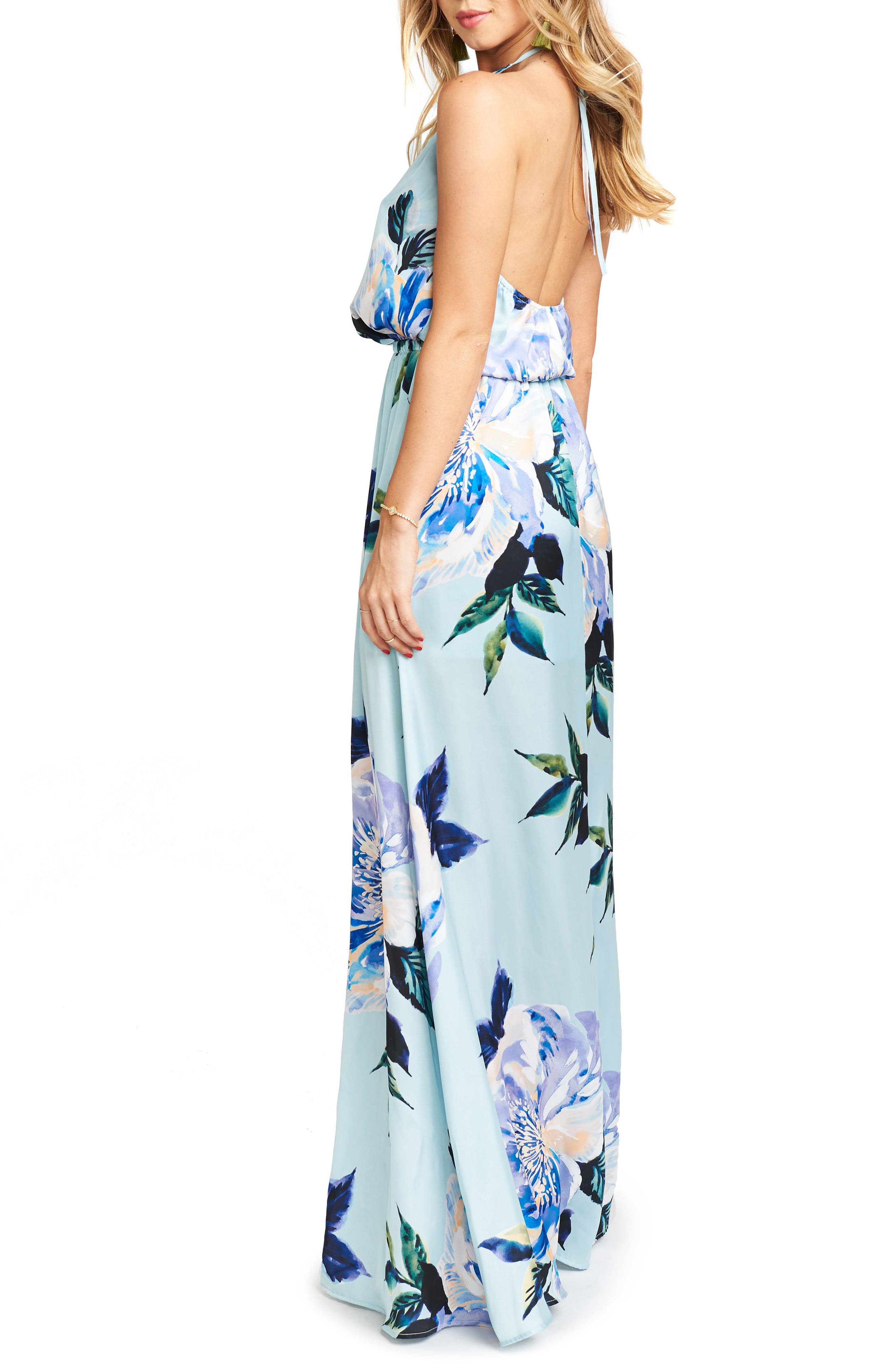 Heather Chiffon Halter Gown,                             Alternate thumbnail 31, color,