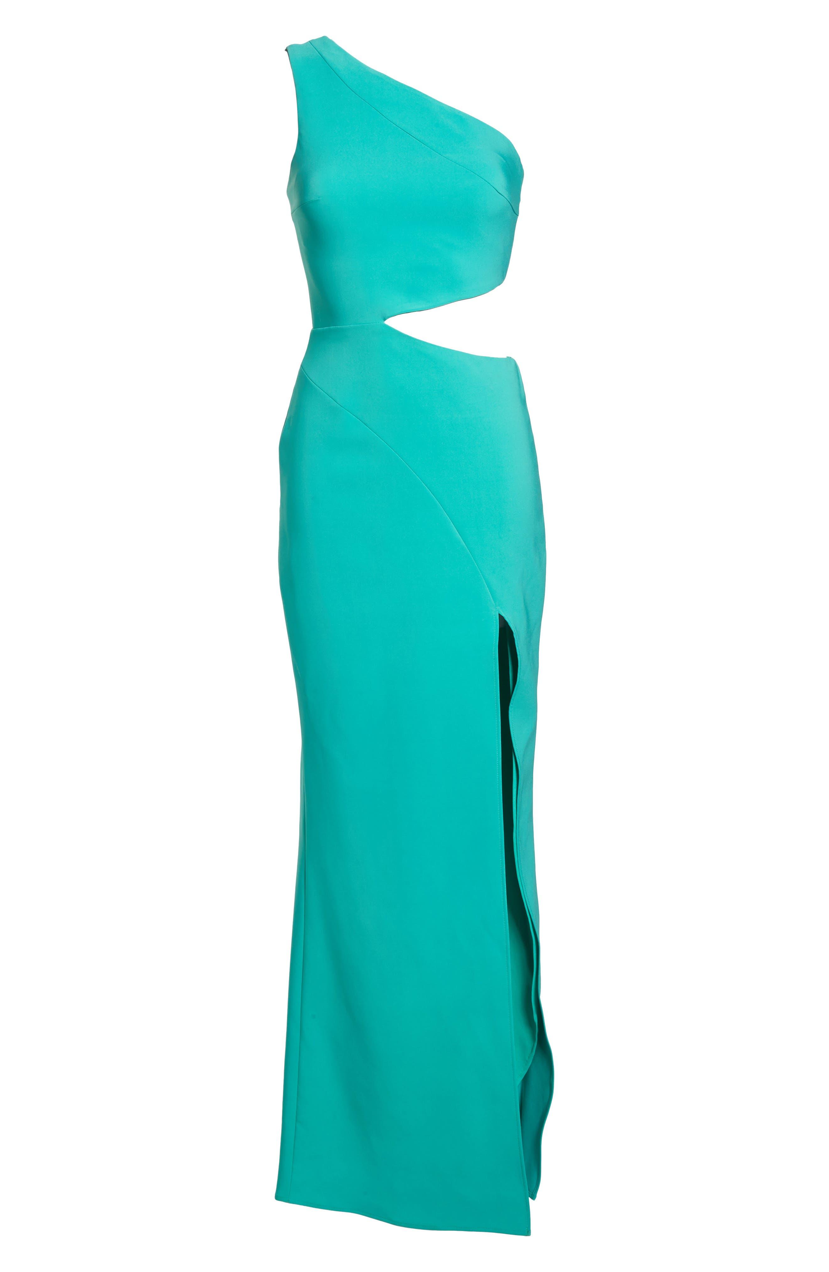 Cameron One-Shoulder Cutout Gown,                             Alternate thumbnail 7, color,                             384