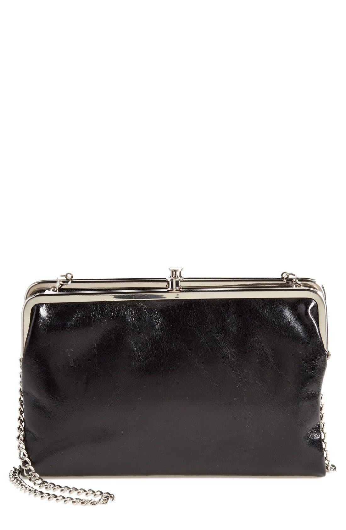'Vintage Leanne' Leather Crossbody Bag,                             Main thumbnail 1, color,                             001