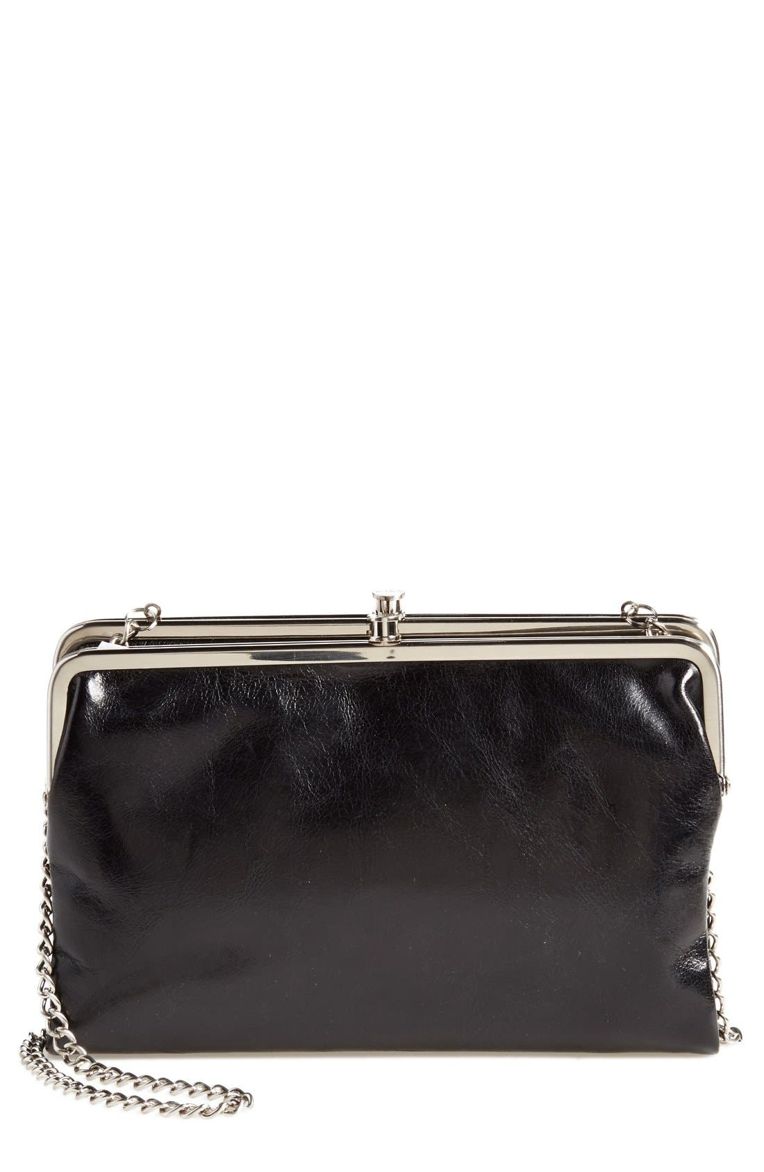 'Vintage Leanne' Leather Crossbody Bag, Main, color, 001