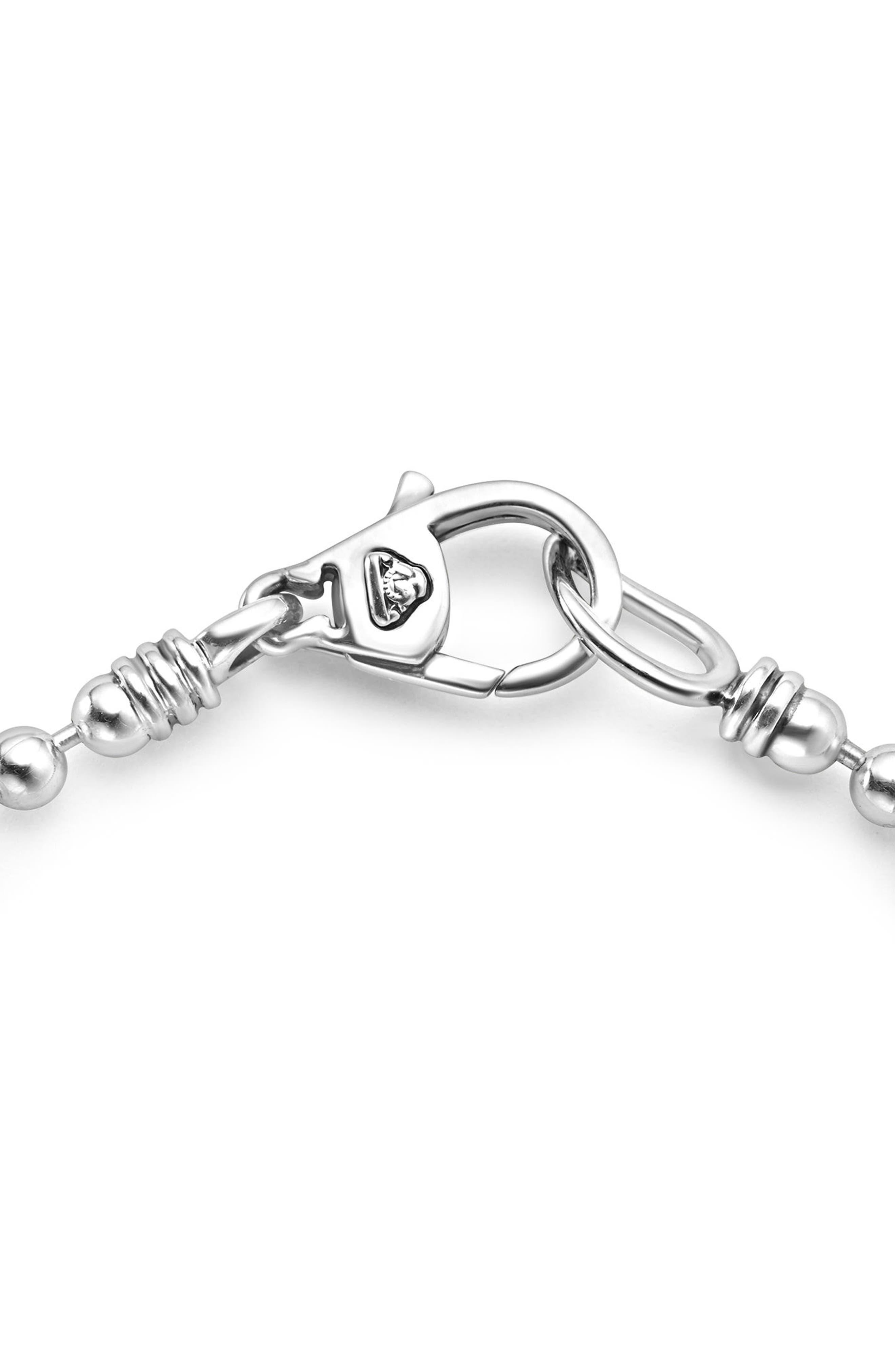 Caviar Spark Diamond Bar Chain Bracelet,                             Alternate thumbnail 3, color,                             SILVER/ DIAMOND