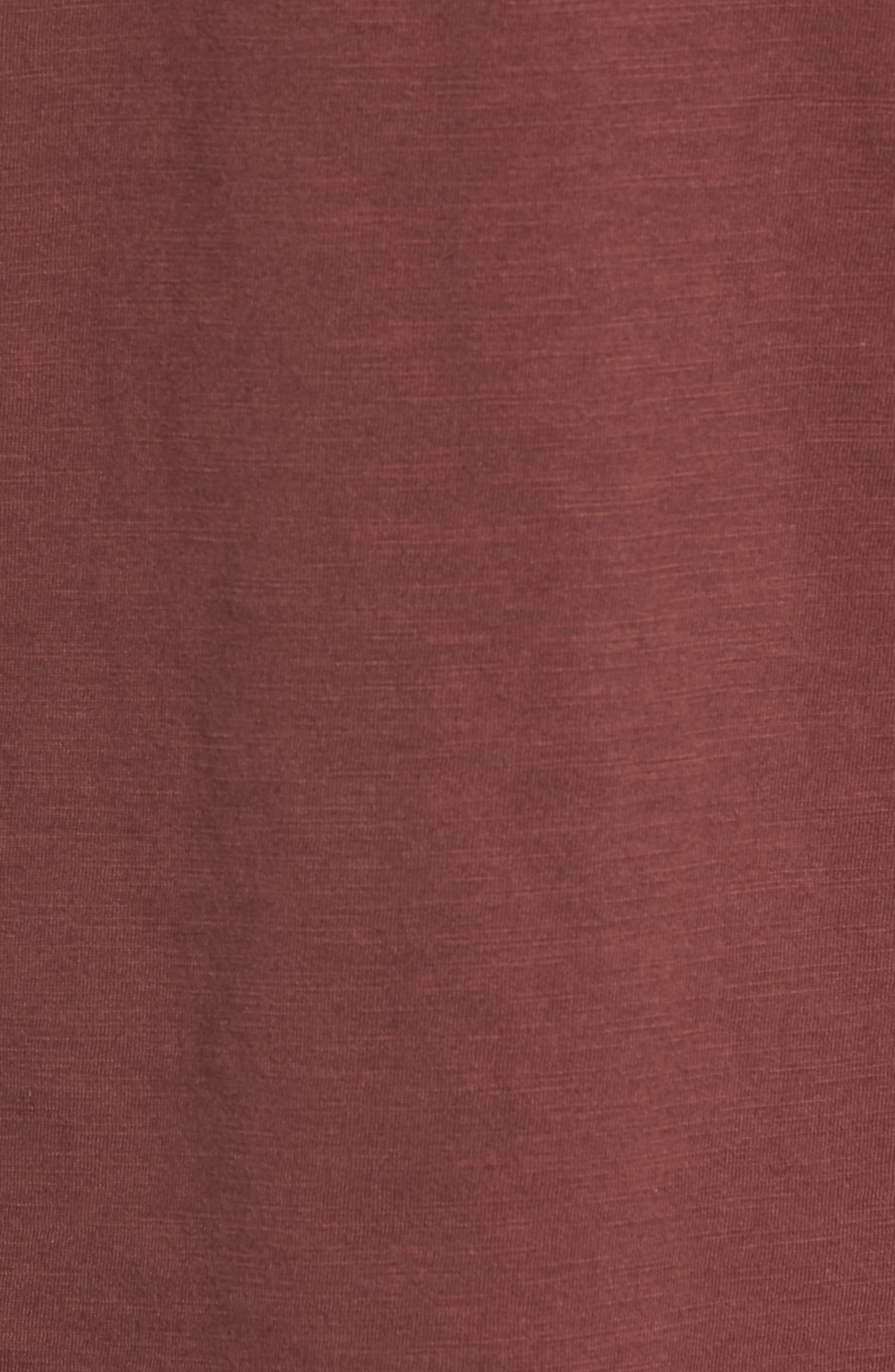 Soccer V-Neck T-Shirt,                             Alternate thumbnail 5, color,                             BURGUNDY