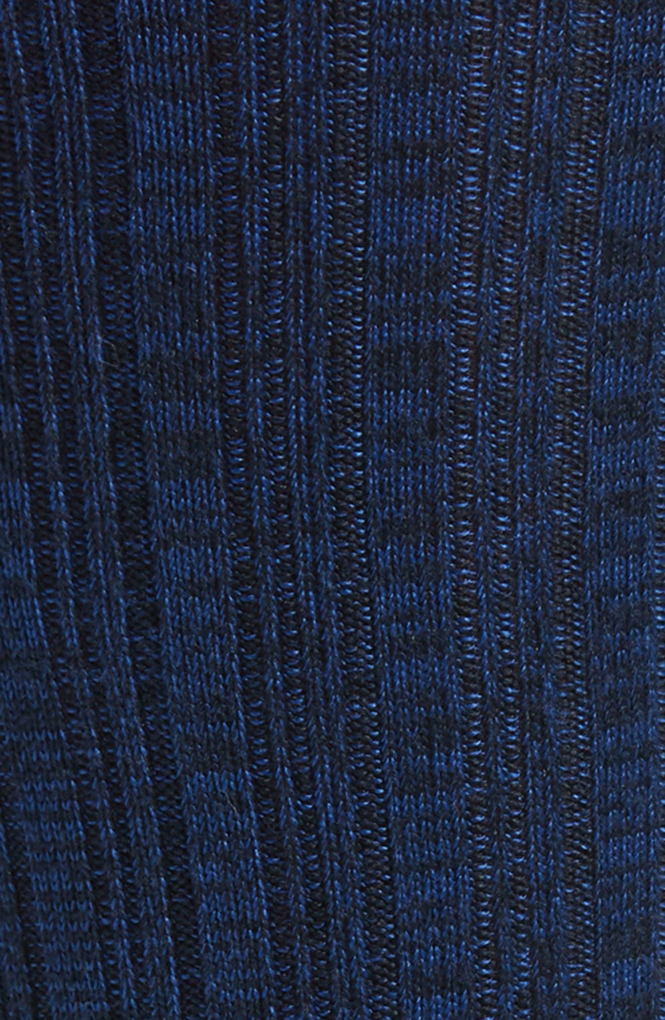 Variegated Ribbed Ultrasoft Socks,                             Alternate thumbnail 2, color,                             NAVY MARL