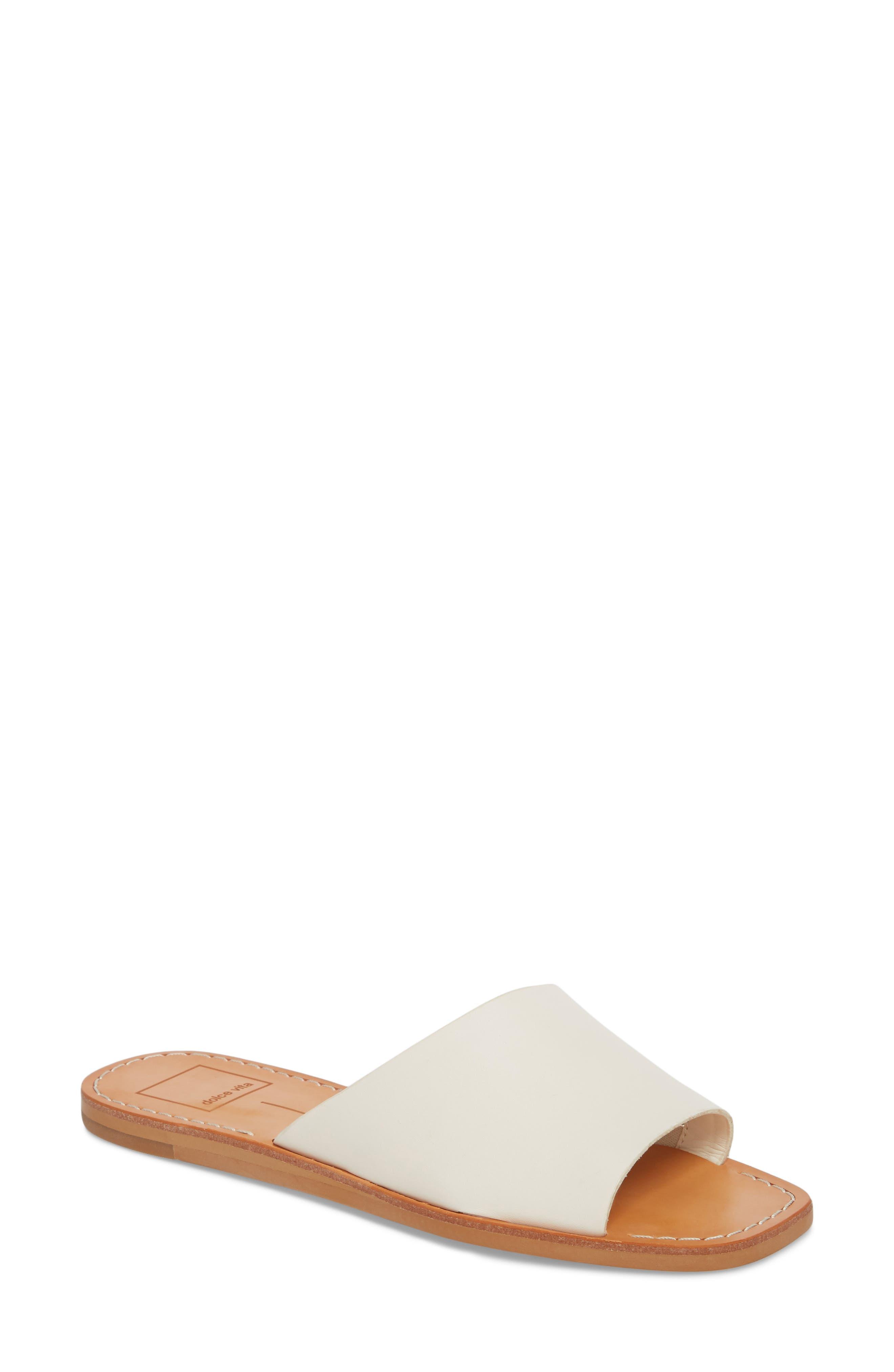 Cato Genuine Calf Hair Slide Sandal,                             Main thumbnail 7, color,