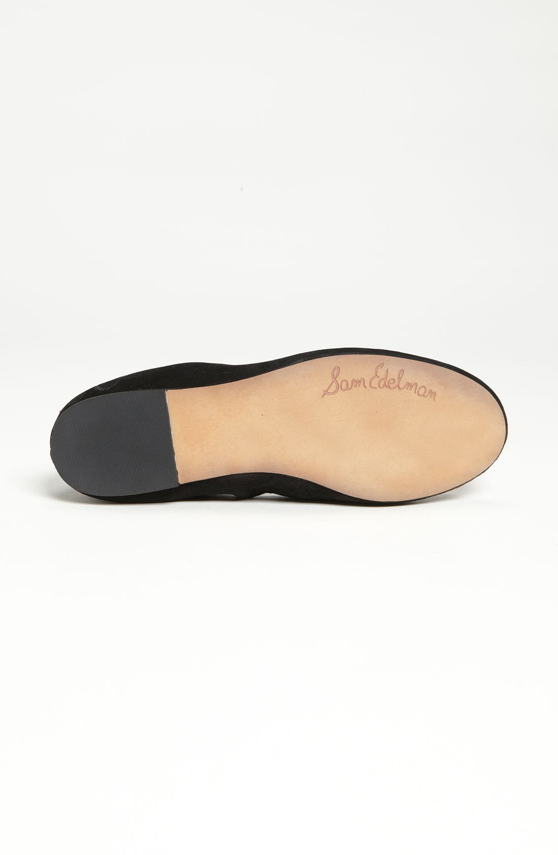 Felicia Flat,                             Alternate thumbnail 7, color,                             BLACK SUEDE