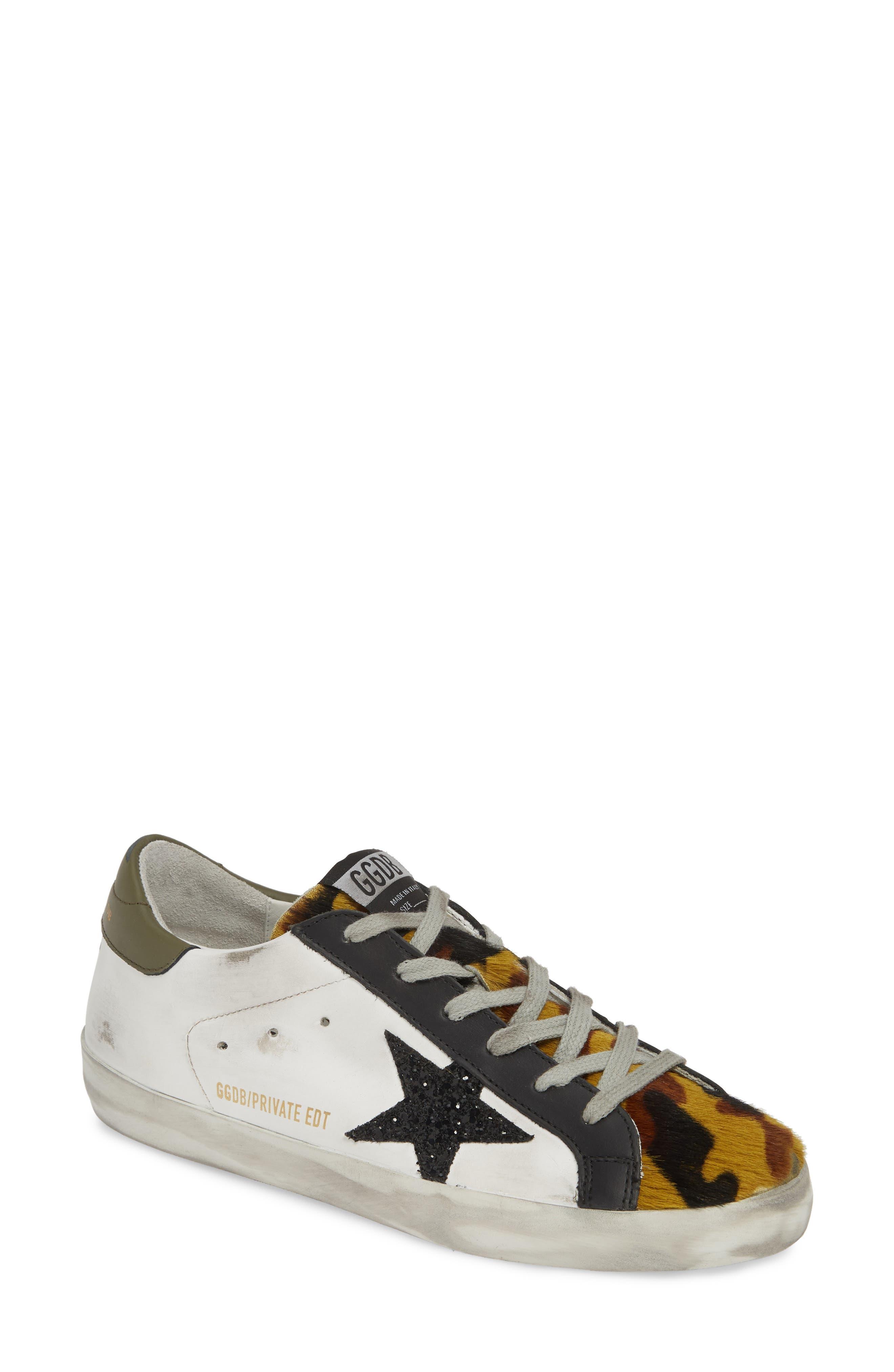 GOLDEN GOOSE Superstar Genuine Calf Hair Sneaker, Main, color, WHITE/ CAMO