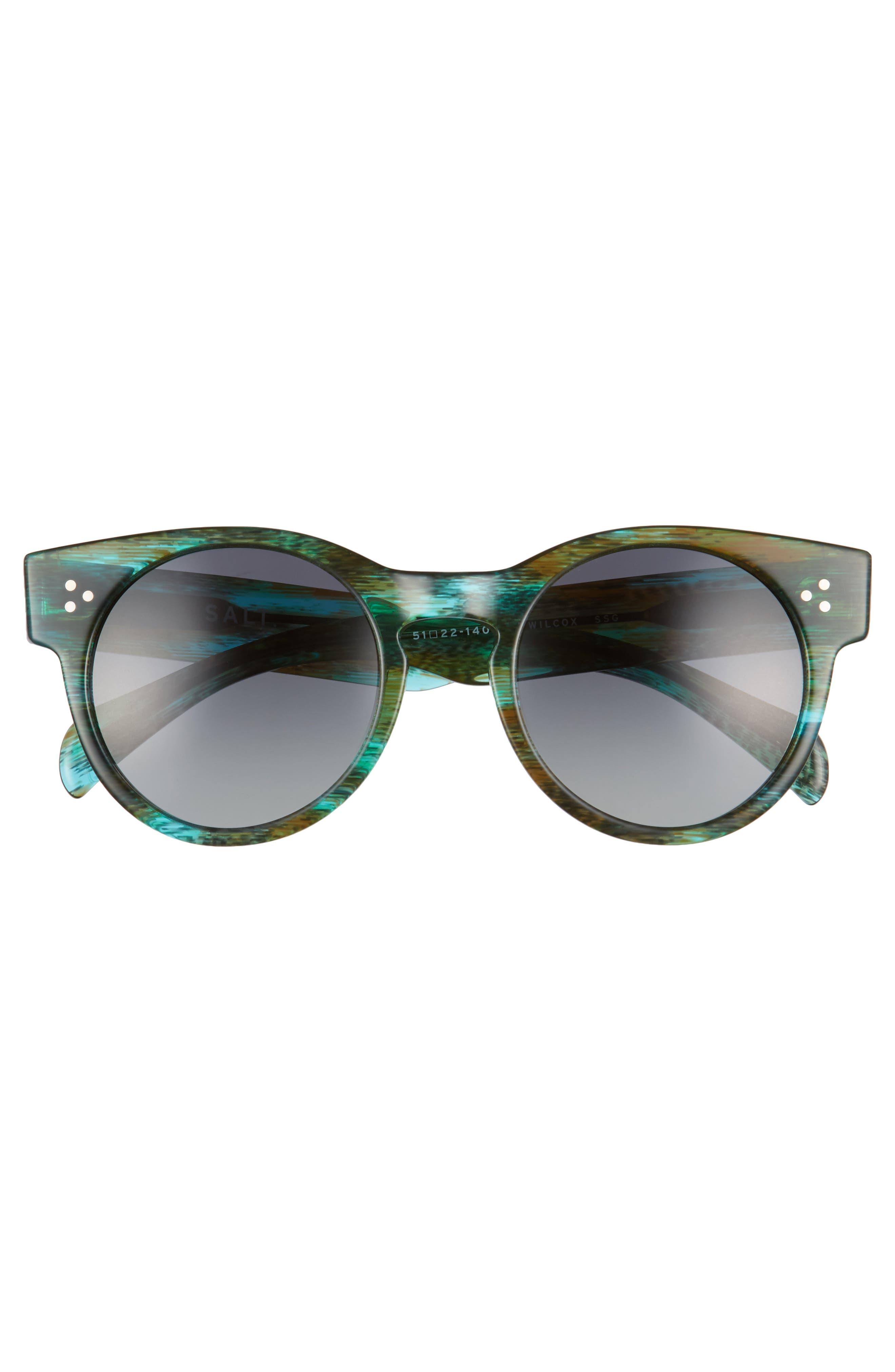 Wilcox 51mm Polarized Bold Round Sunglasses,                             Alternate thumbnail 6, color,